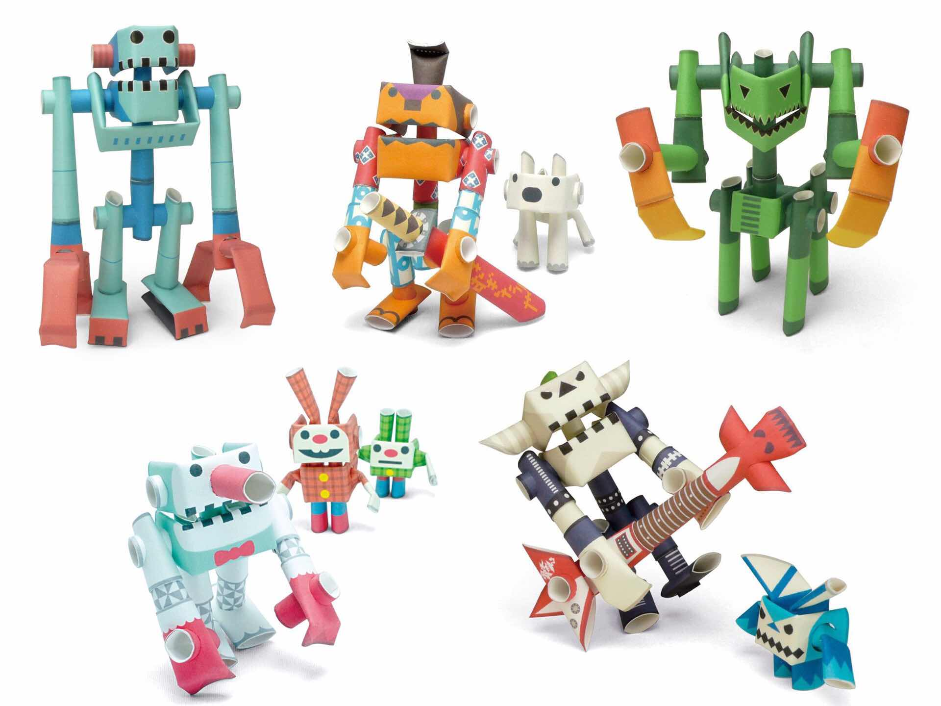 PIPEROID paper pipe robot kits. ($16 each)