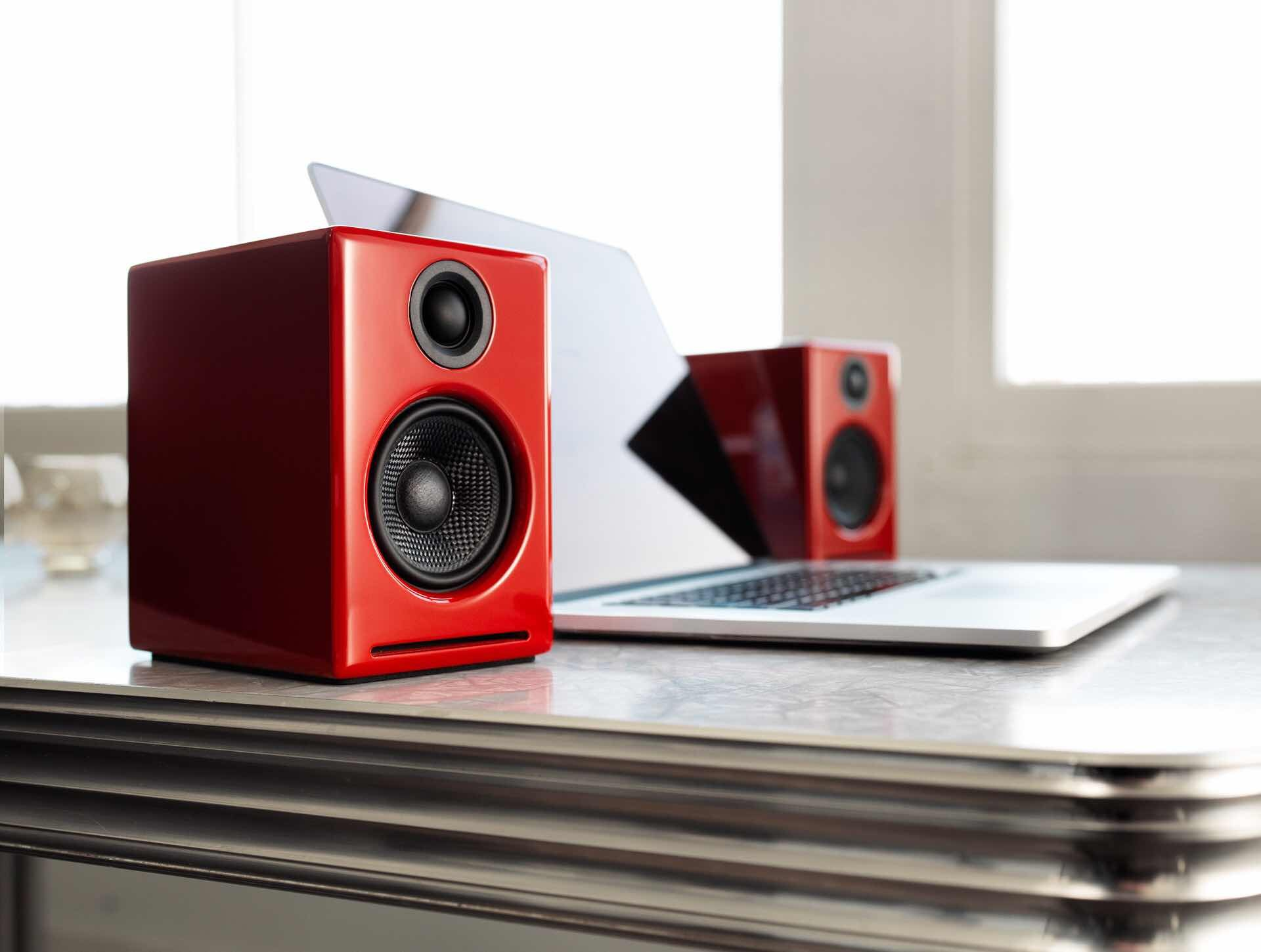 Audioengine A2+ wireless computer speakers. ($269, in your choice of red, black, or white)