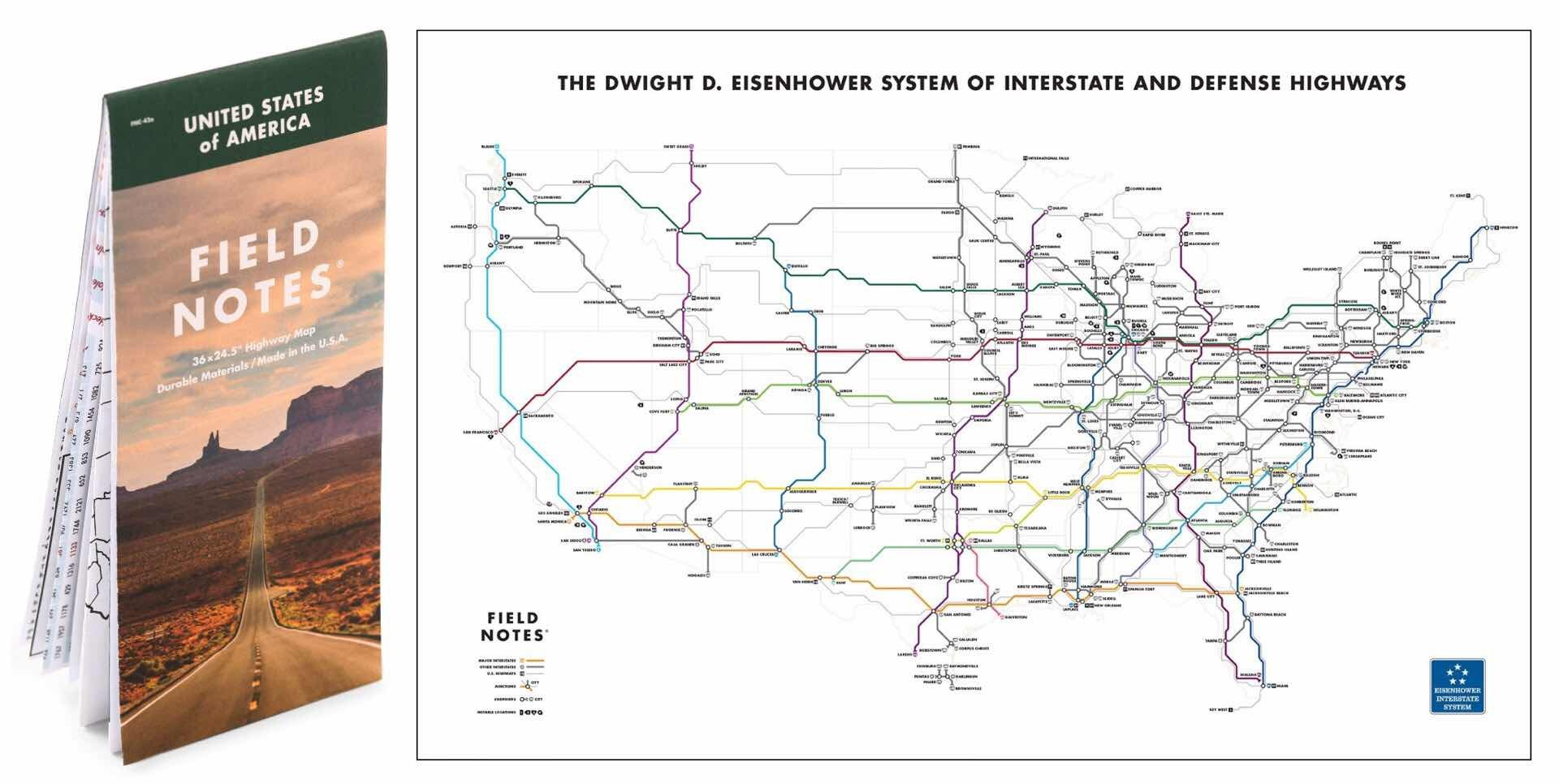field-notes-mile-marker-edition-national-highway-map-cameron-booth