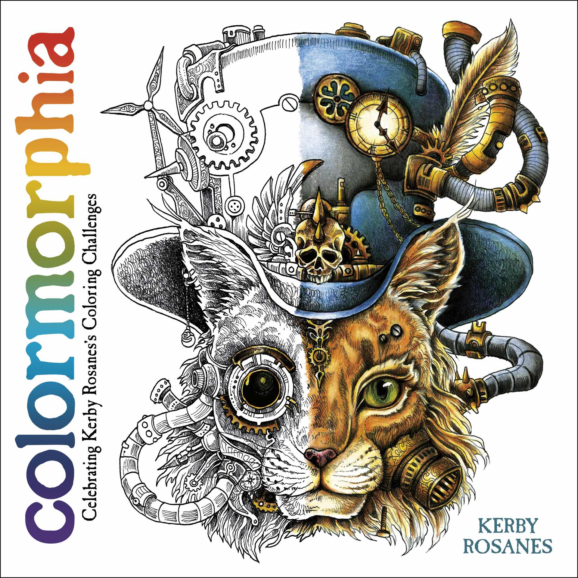 Colormorphia coloring book by Kerby Rosanes.
