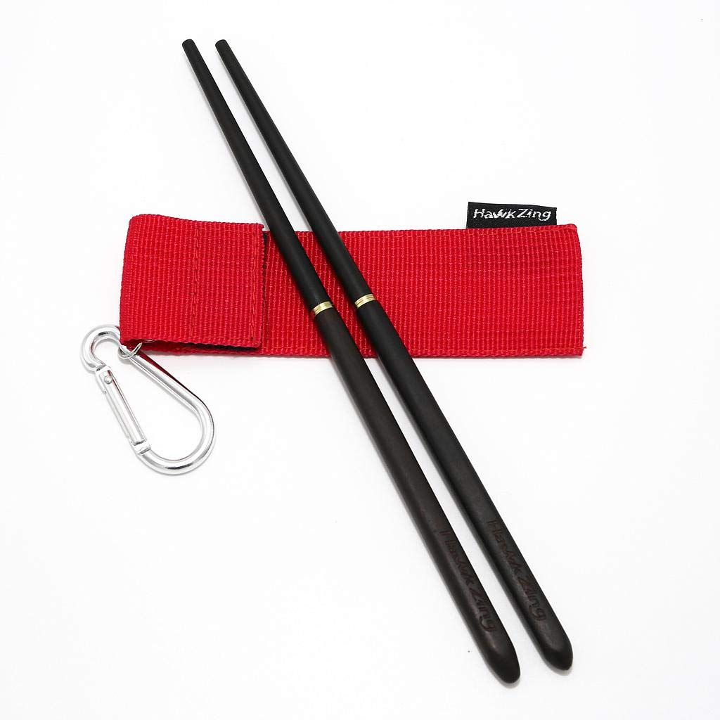 Hawk Zing foldable chopsticks. ($11 for ebony, $10 for rosewood; double-pairs are also available for $15)