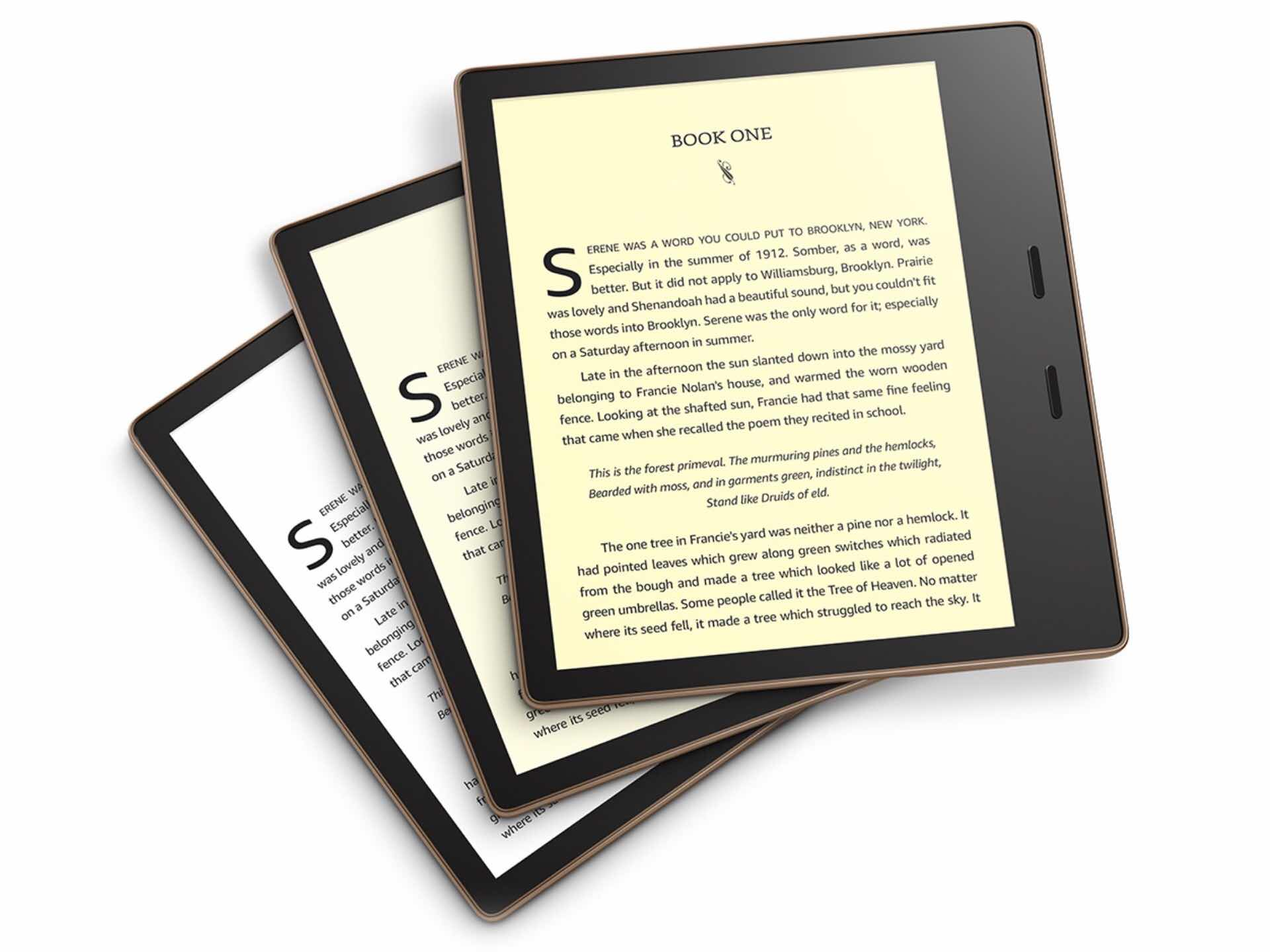 Amazon's 2019 Kindle Oasis ebook reader. (from $250)