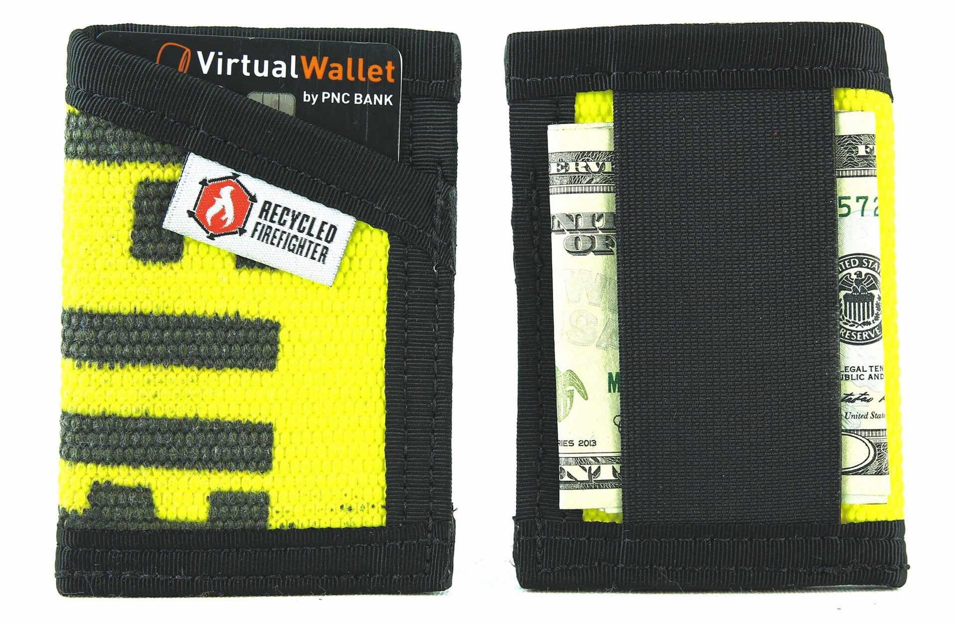 Recycled Firefighter Sergeant wallet. ($19–$29)