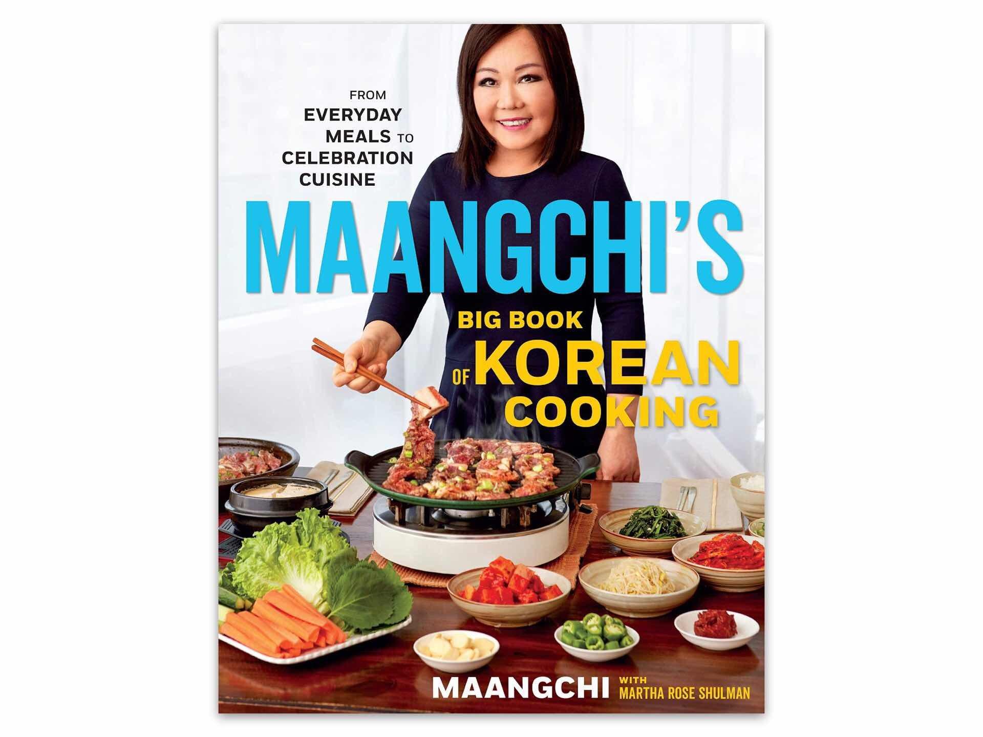 "Maangchi's Big Book of Korean Cooking by Emily Kim (aka ""Maangchi""). ($26 hardcover)"