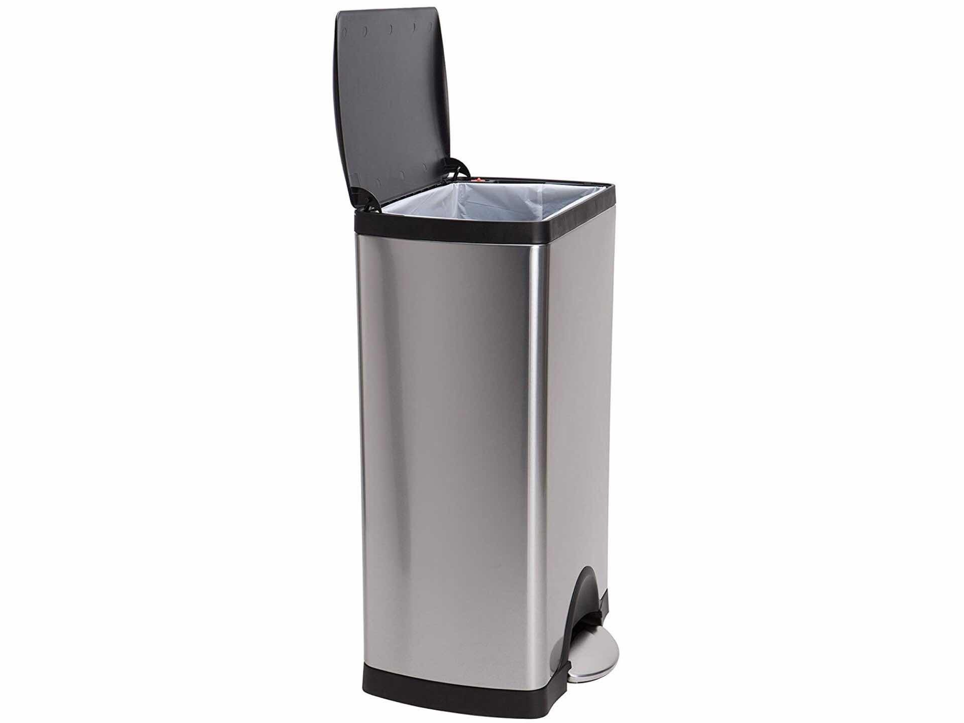 Simplehuman's stainless steel trash can. ($80)