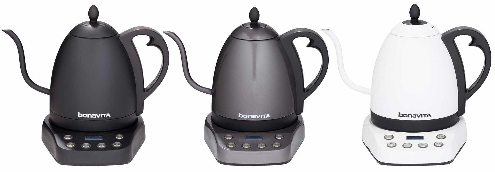 "Bonavita ""Interurban"" variable-temp gooseneck kettle. ($119)"