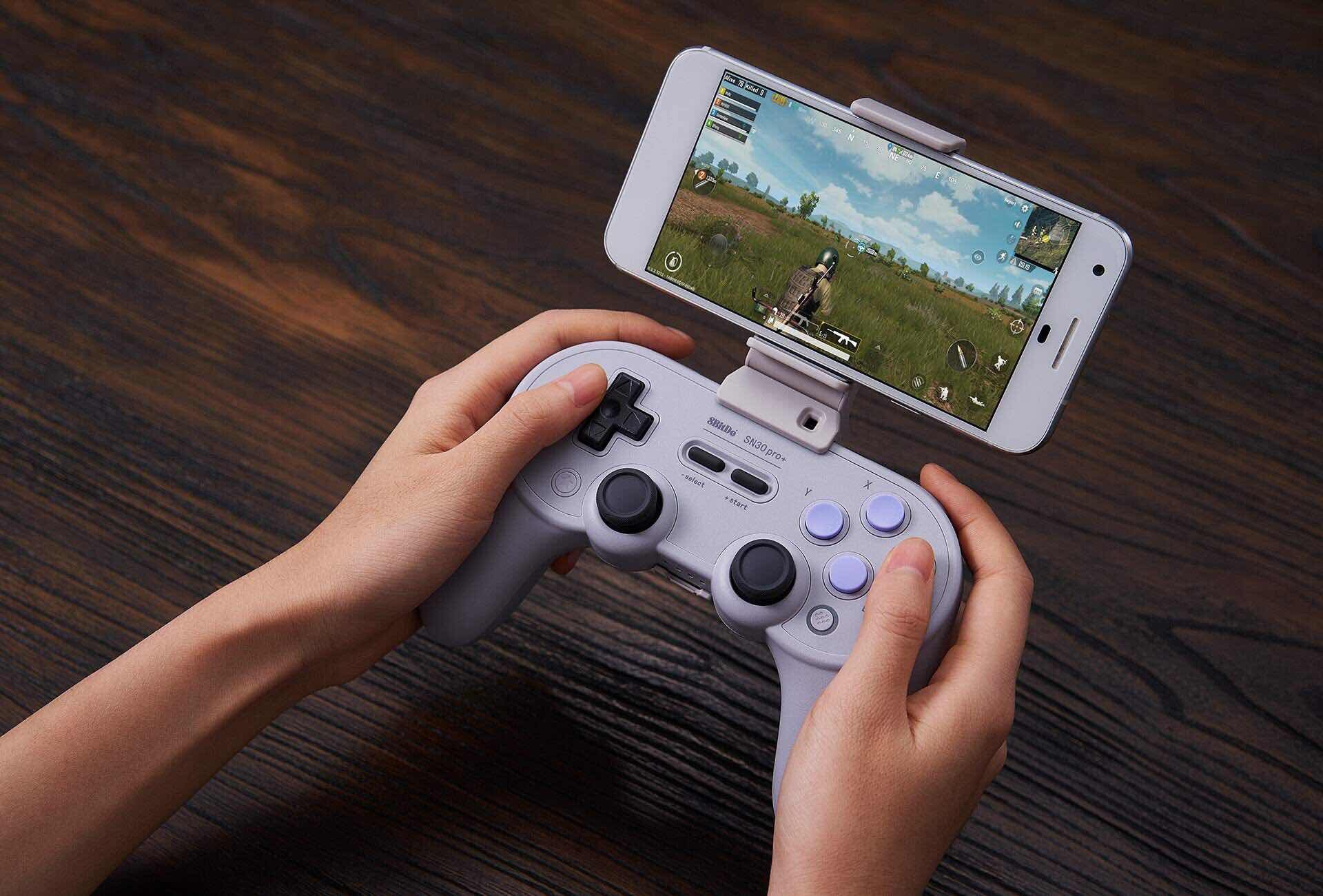With the new smartphone clip, the Pro+ becomes a dedicated mobile gaming system.