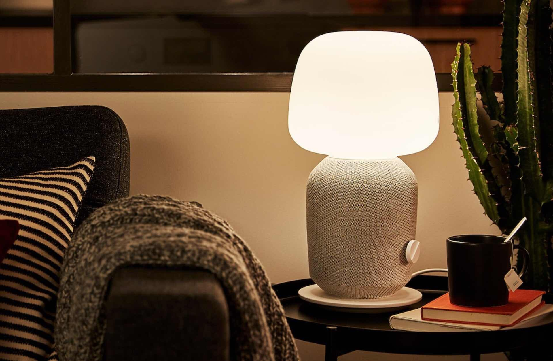 IKEA + Sonos SYMFONISK table lamp and Wi-Fi speaker. ($179, comes in white and black)