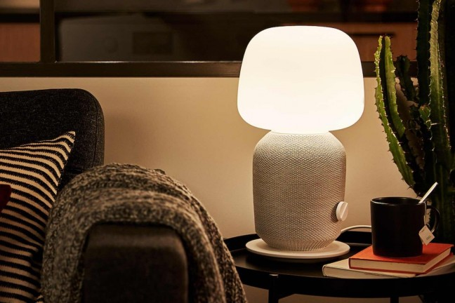 "IKEA + Sonos ""SYMFONISK"" table lamp and Wi-Fi speaker. ($179, comes in white and black)"