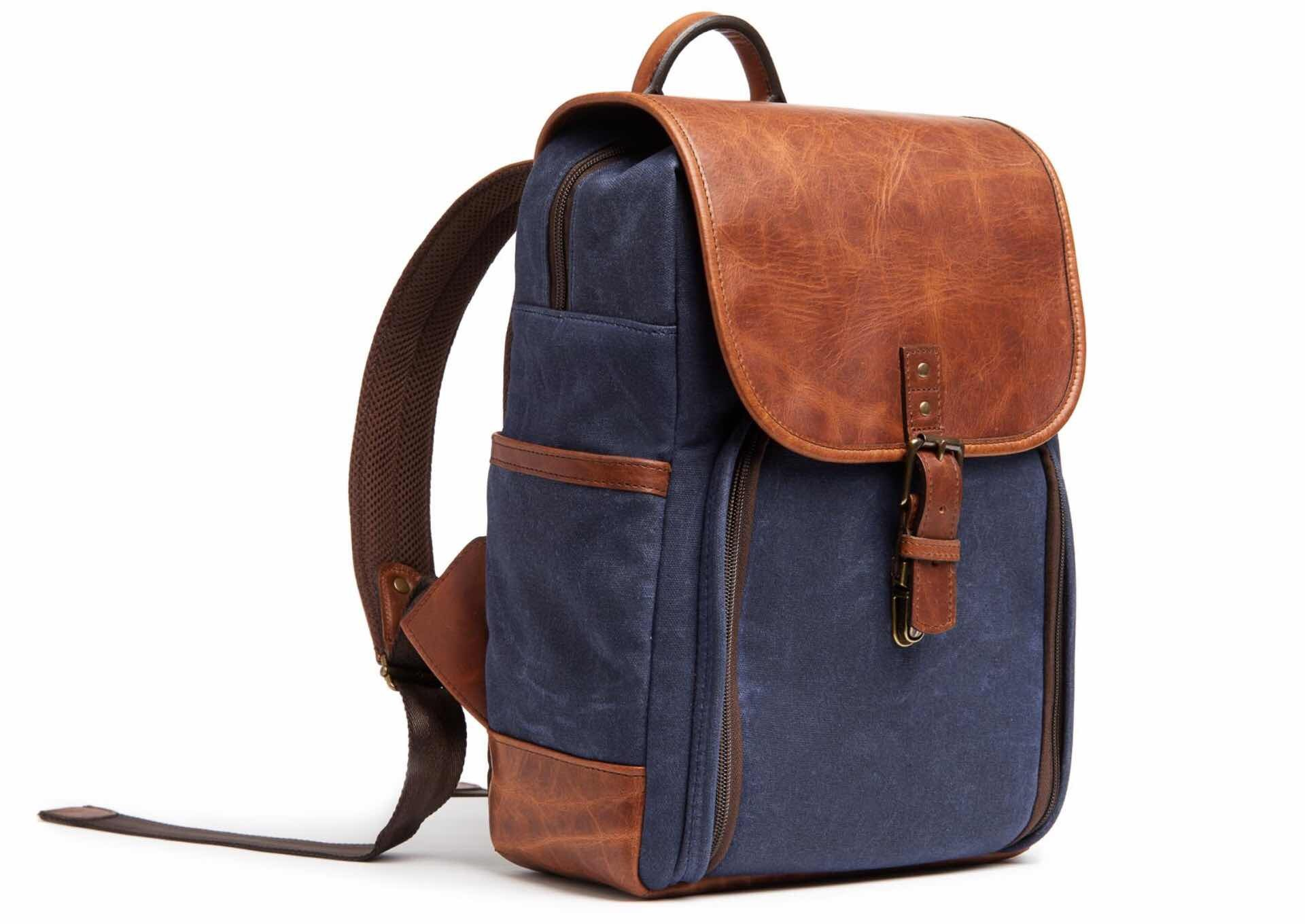 ONA Monterey backpack. ($349, available in Olive, Black, Oxford Blue / Navy, and Smoke / Gray)
