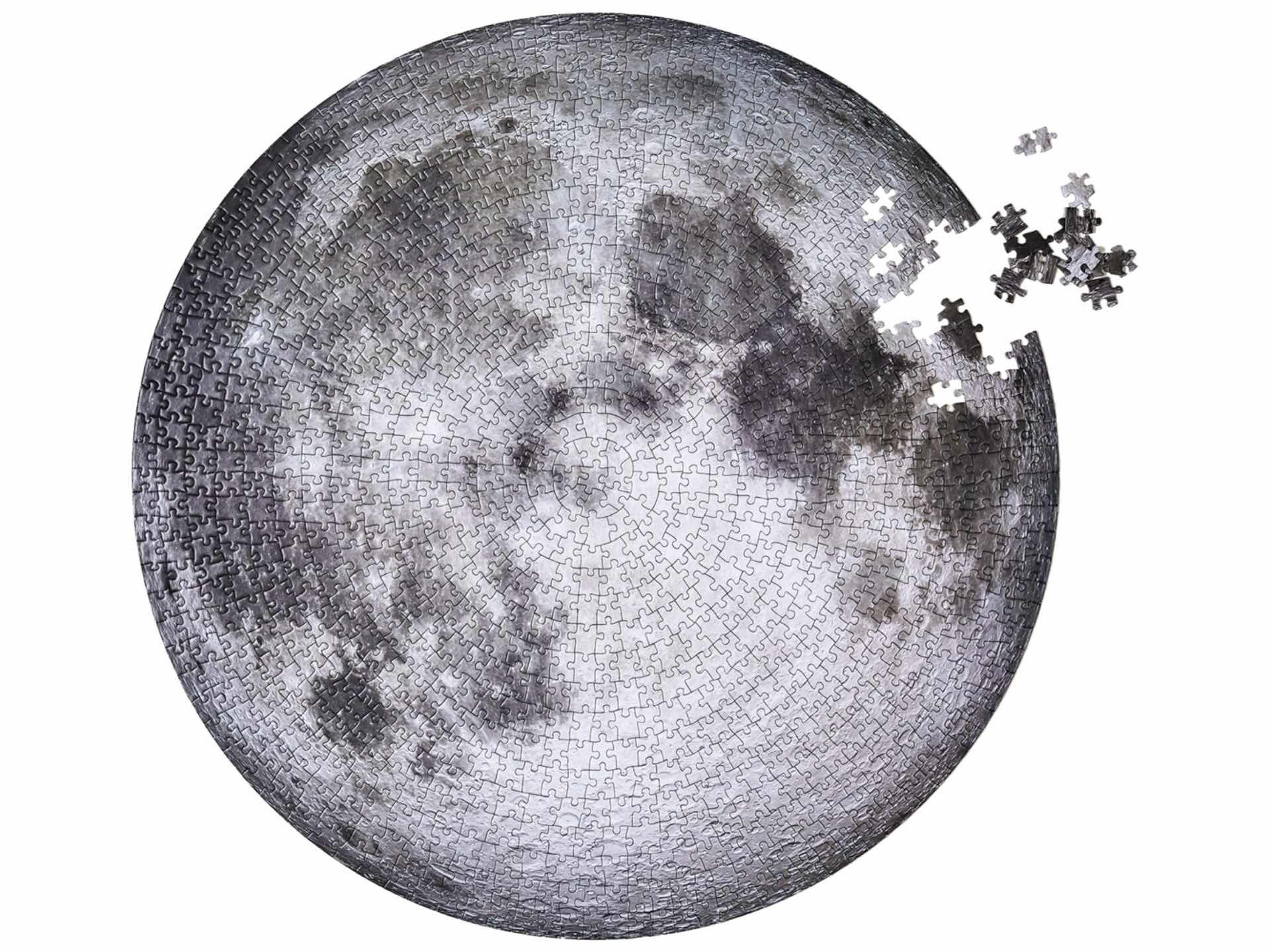 The Moon jigsaw by Four Point Puzzles. ($25)