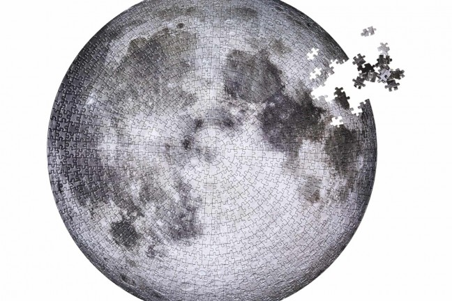 """The Moon"" jigsaw by Four Point Puzzles. ($25)"