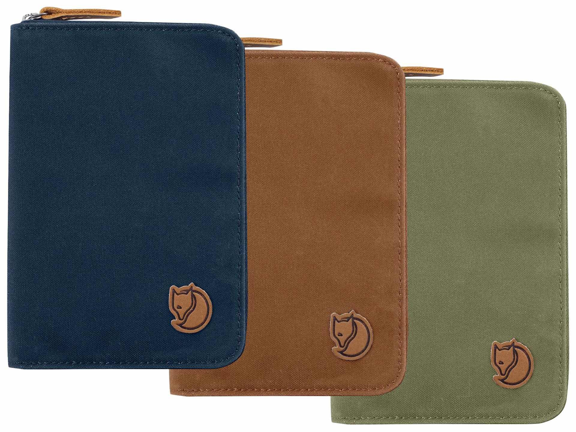 Fjällräven passport wallet. ($60, available in a variety of colors)