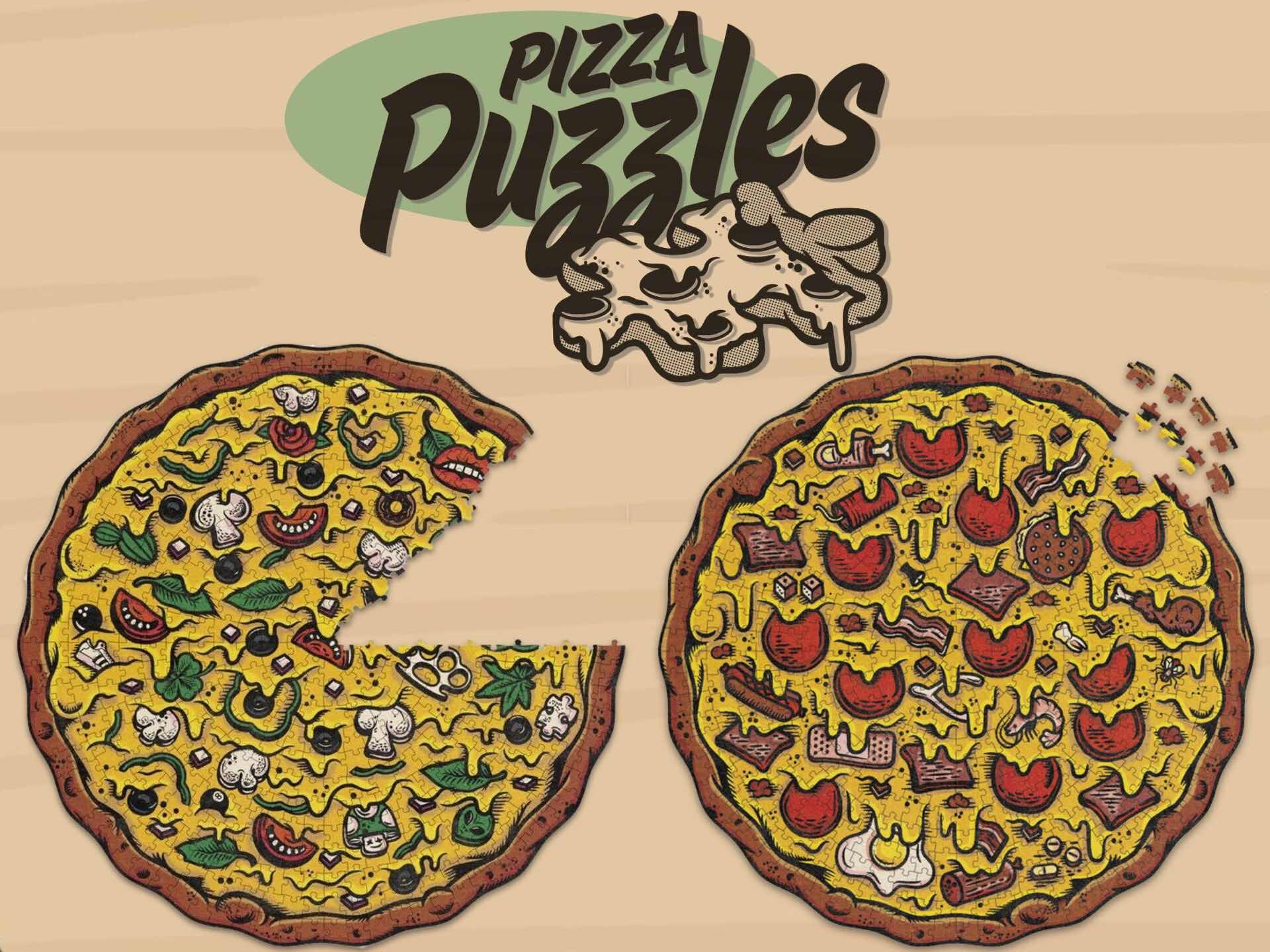 Pizza Puzzles by Stellar Factory. ($15 each)
