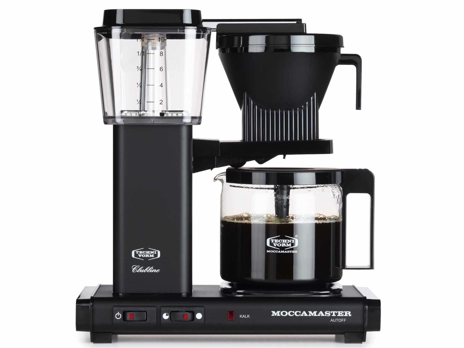 The Technivorm Moccamaster KBG drip coffee maker in matte black. ($329)
