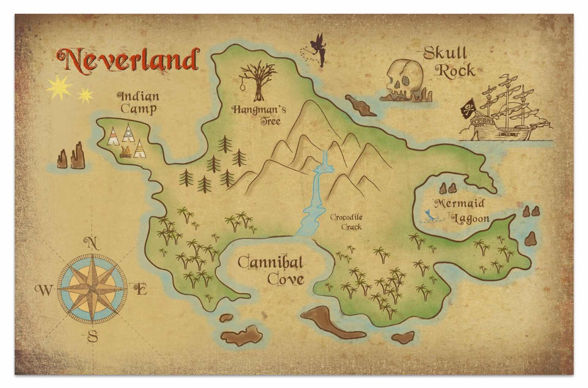 maps-of-fictional-worlds-guide-peter-pan-neverland