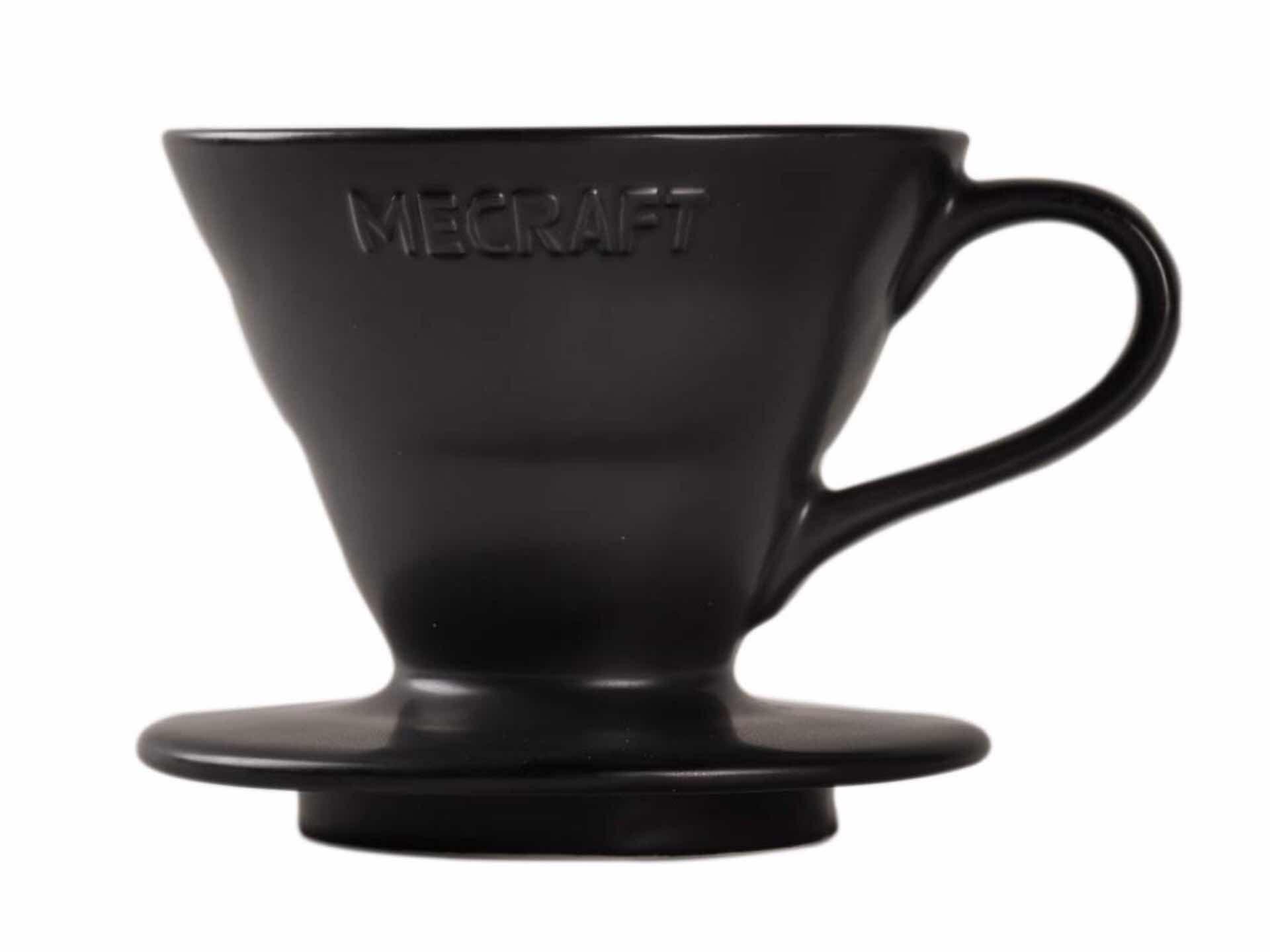 Mecraft ceramic pour-over dripper in matte black. ($13)