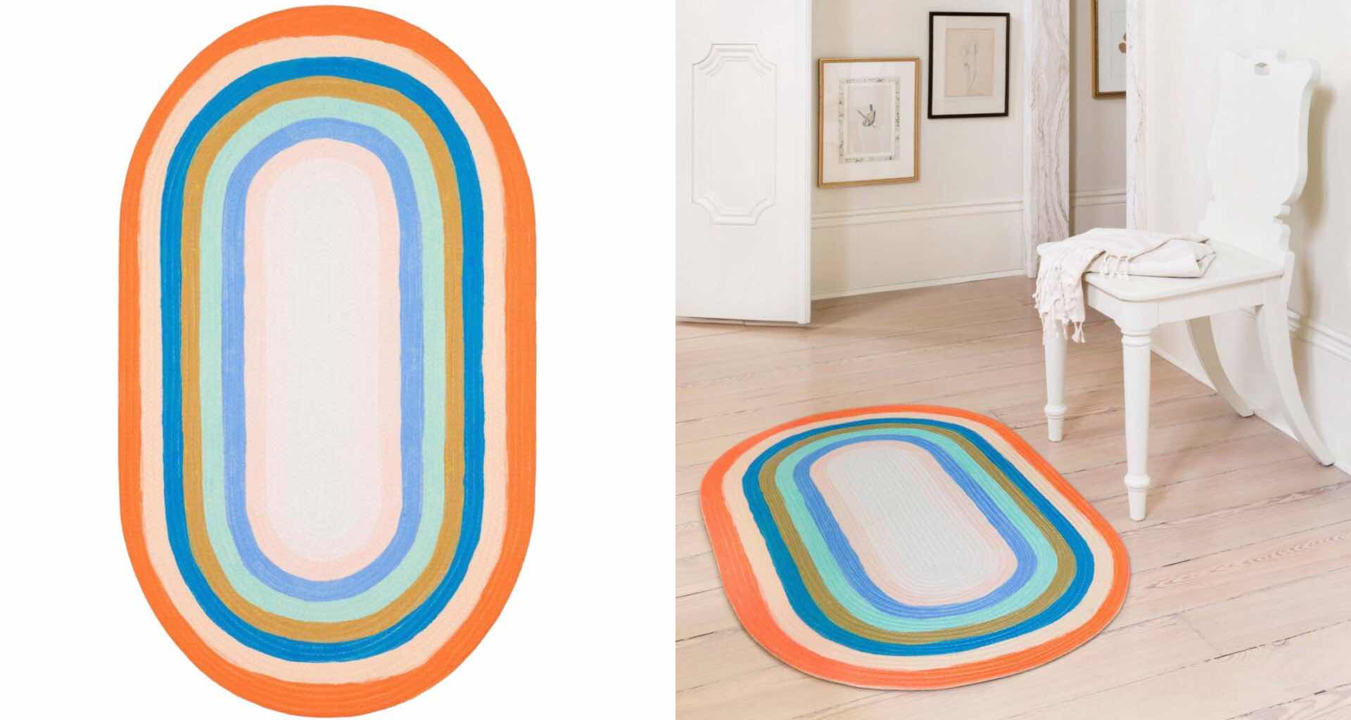 rifle-paper-x-loloi-painted-stripe-braided-rug-collection
