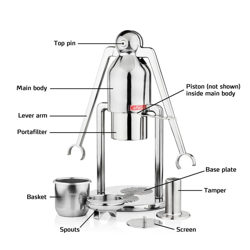 cafelat-robot-manual-espresso-maker-components