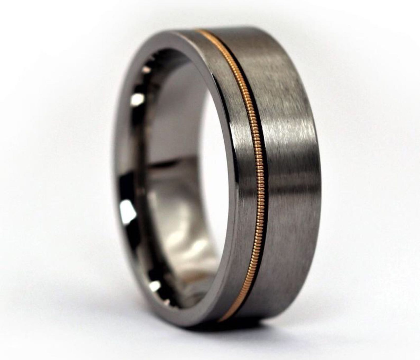 Anvil Rings guitar string ring. ($95 for black tungsten, $155 for titanium)