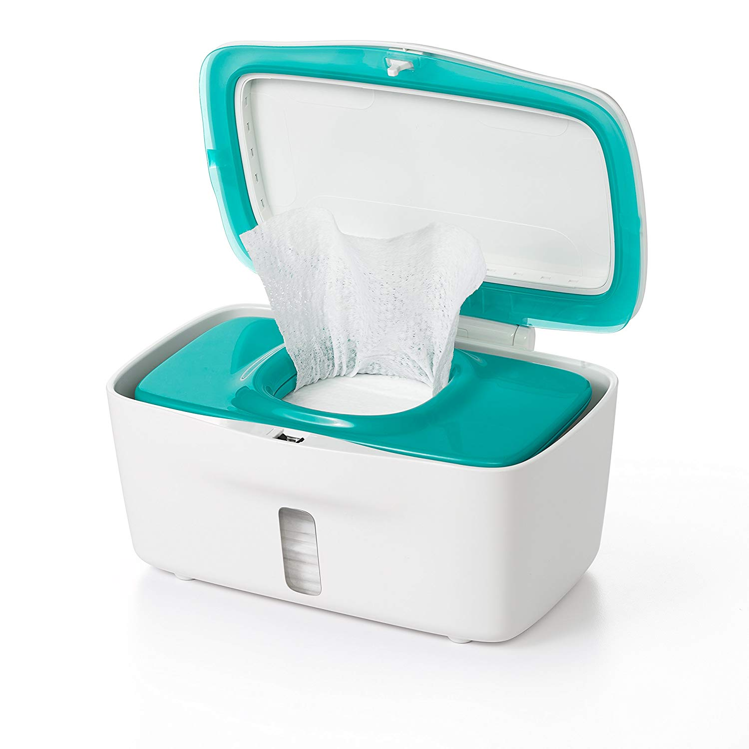 "OXO Tot ""Perfect Pull"" wipes dispenser. ($20, with four accent colors to choose from)"