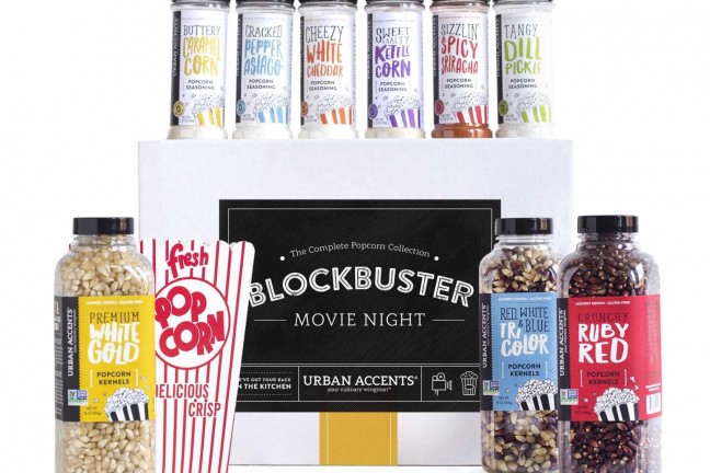 Urban Accents popcorn gift set. ($50)