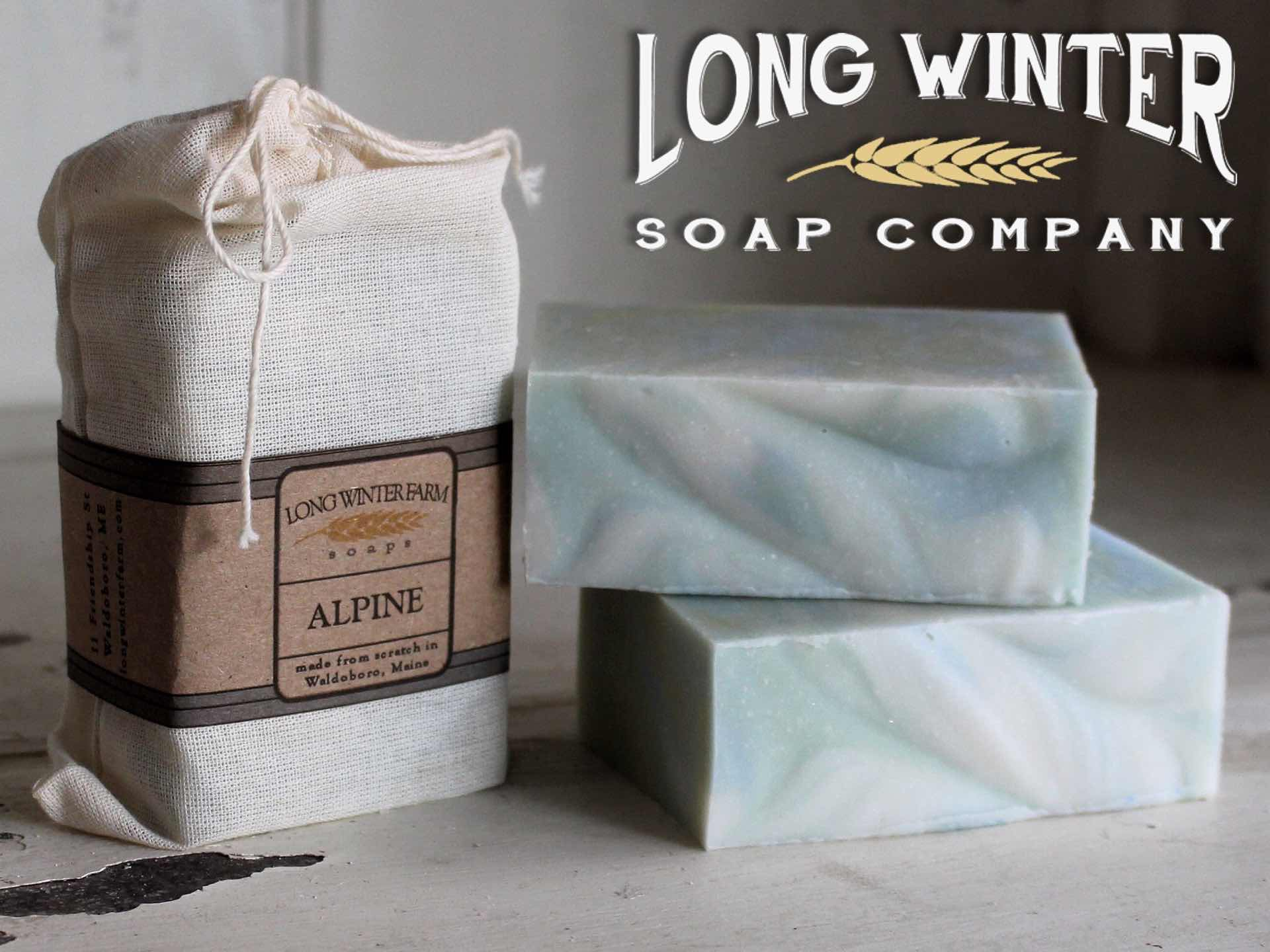 Long Winter Farm's cold-process soaps. ($8 per five-ounce bar)
