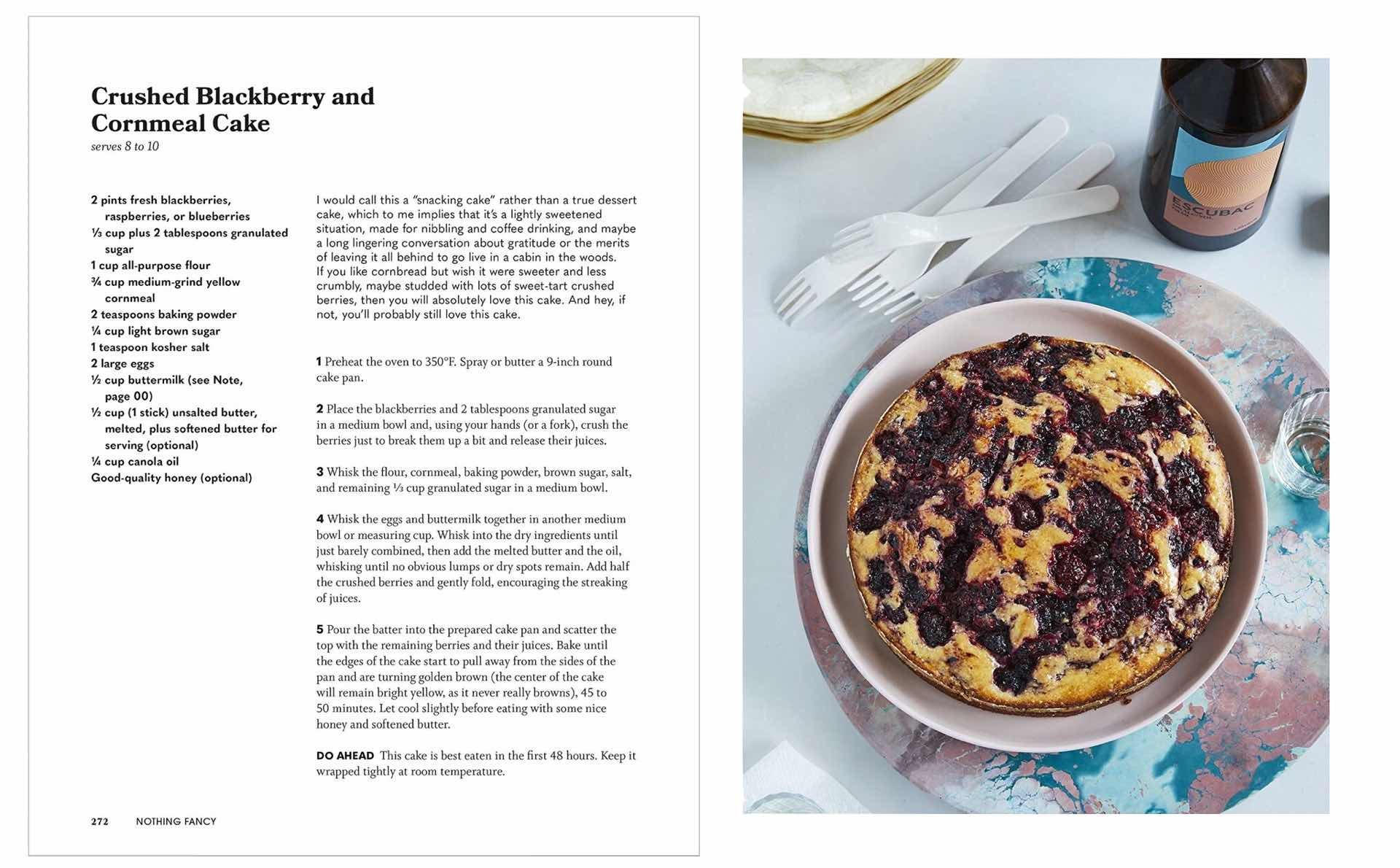 nothing-fancy-cookbook-by-alison-roman-crushed-blackberry-and-cornmeal-cake