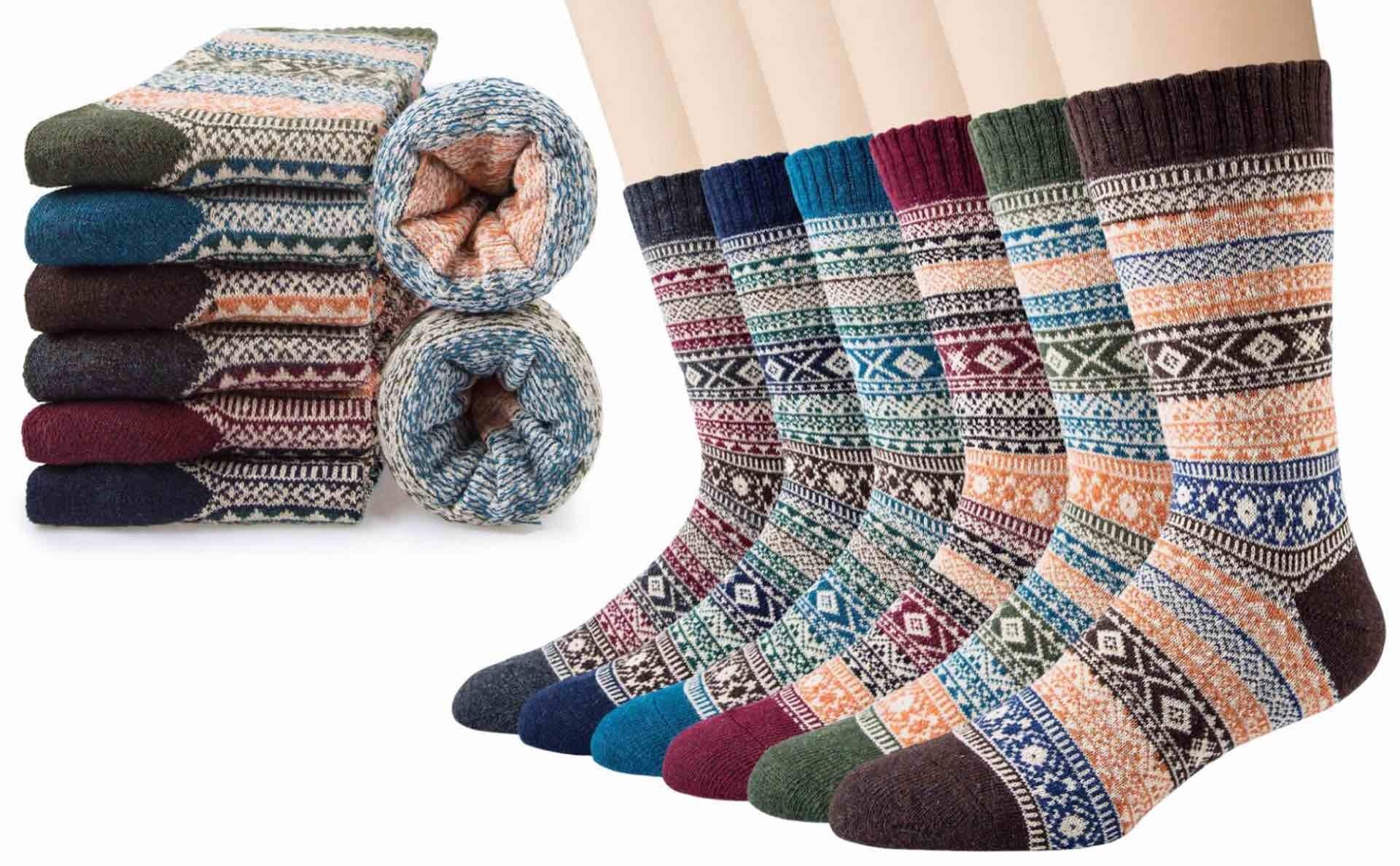 Ysense Norwegian-style socks. ($16 for six pairs)