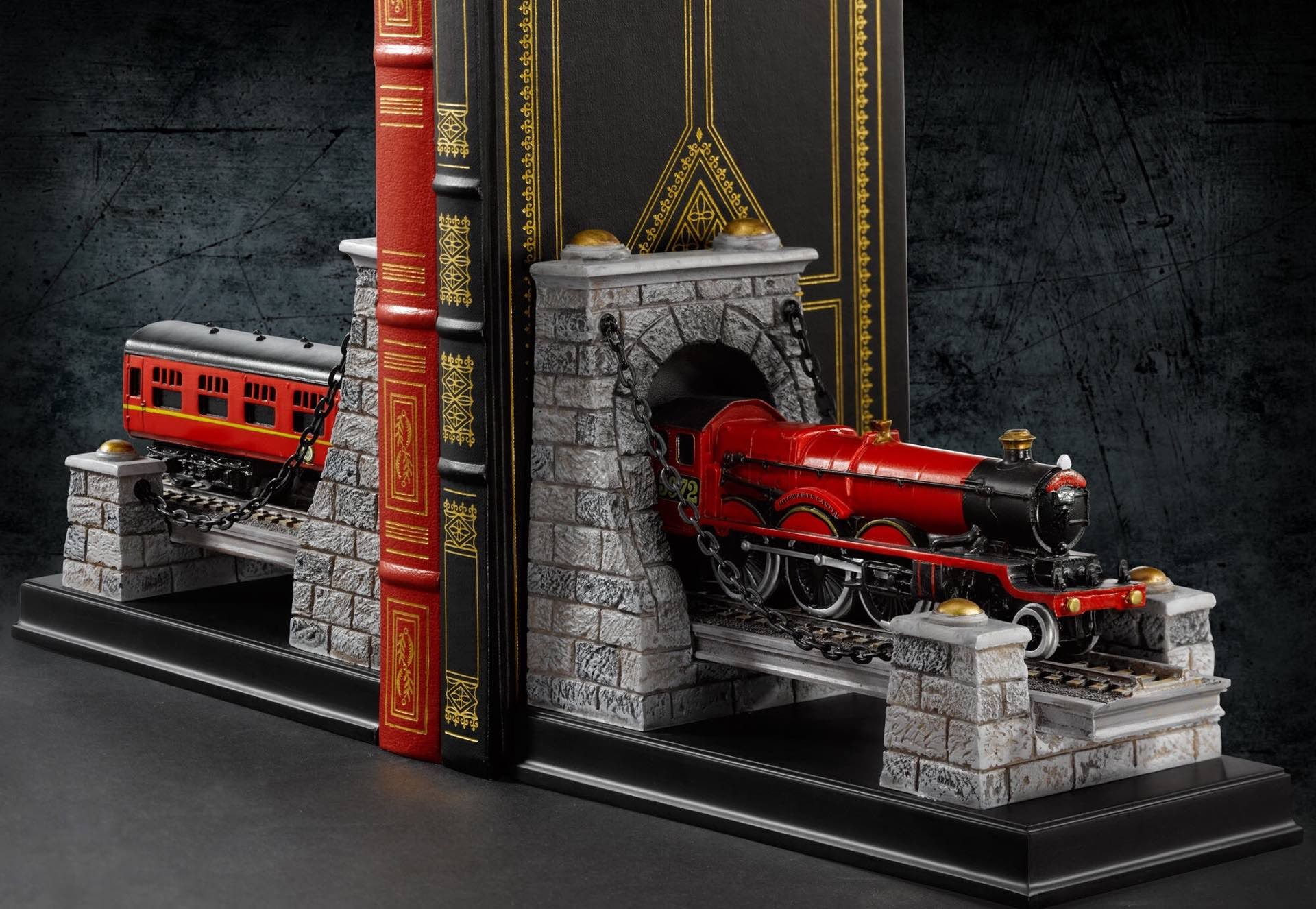 Harry Potter Hogwarts Express bookends. ($95 for the set)