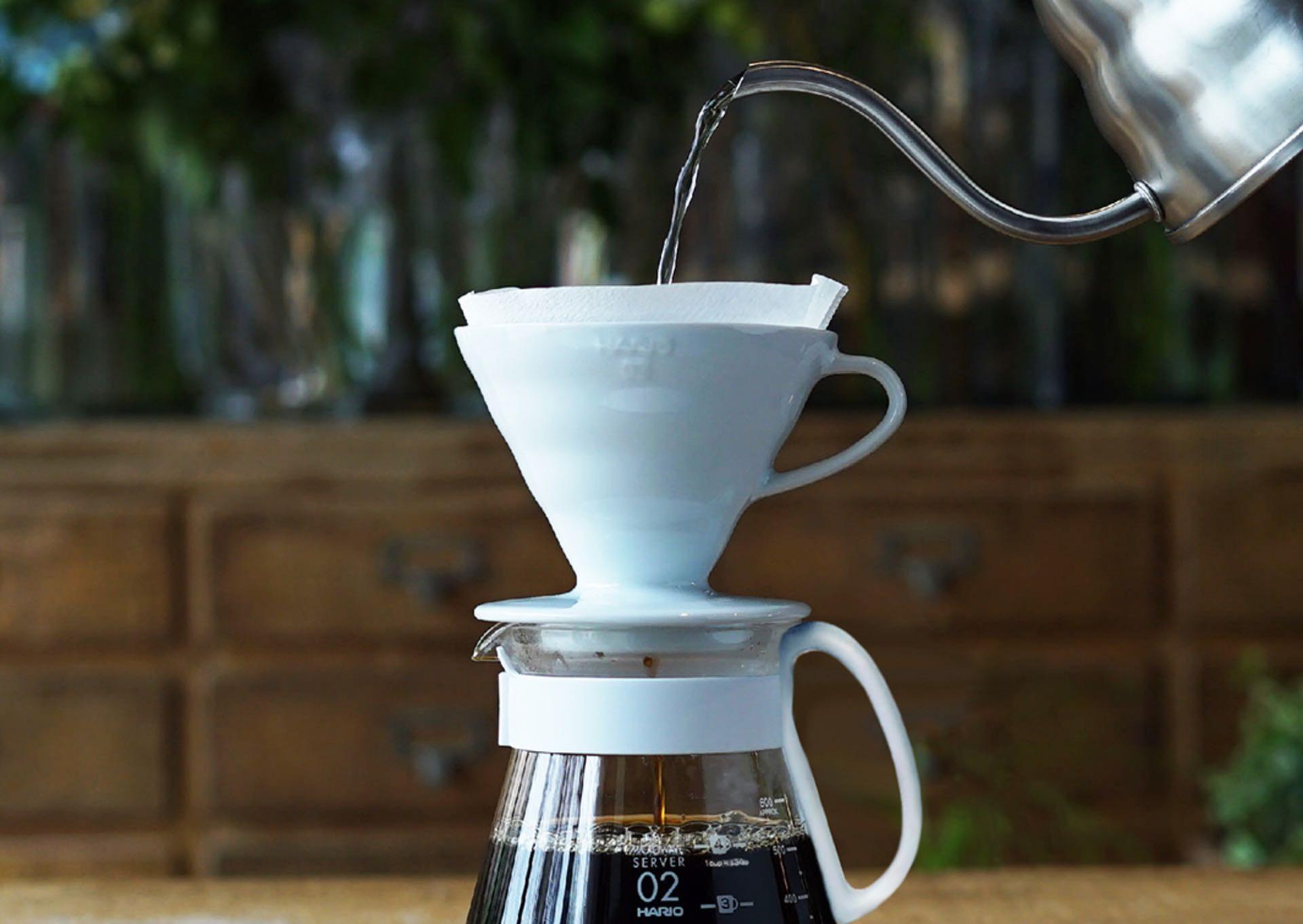 The ceramic Hario V60 pour-over cone. ($23)