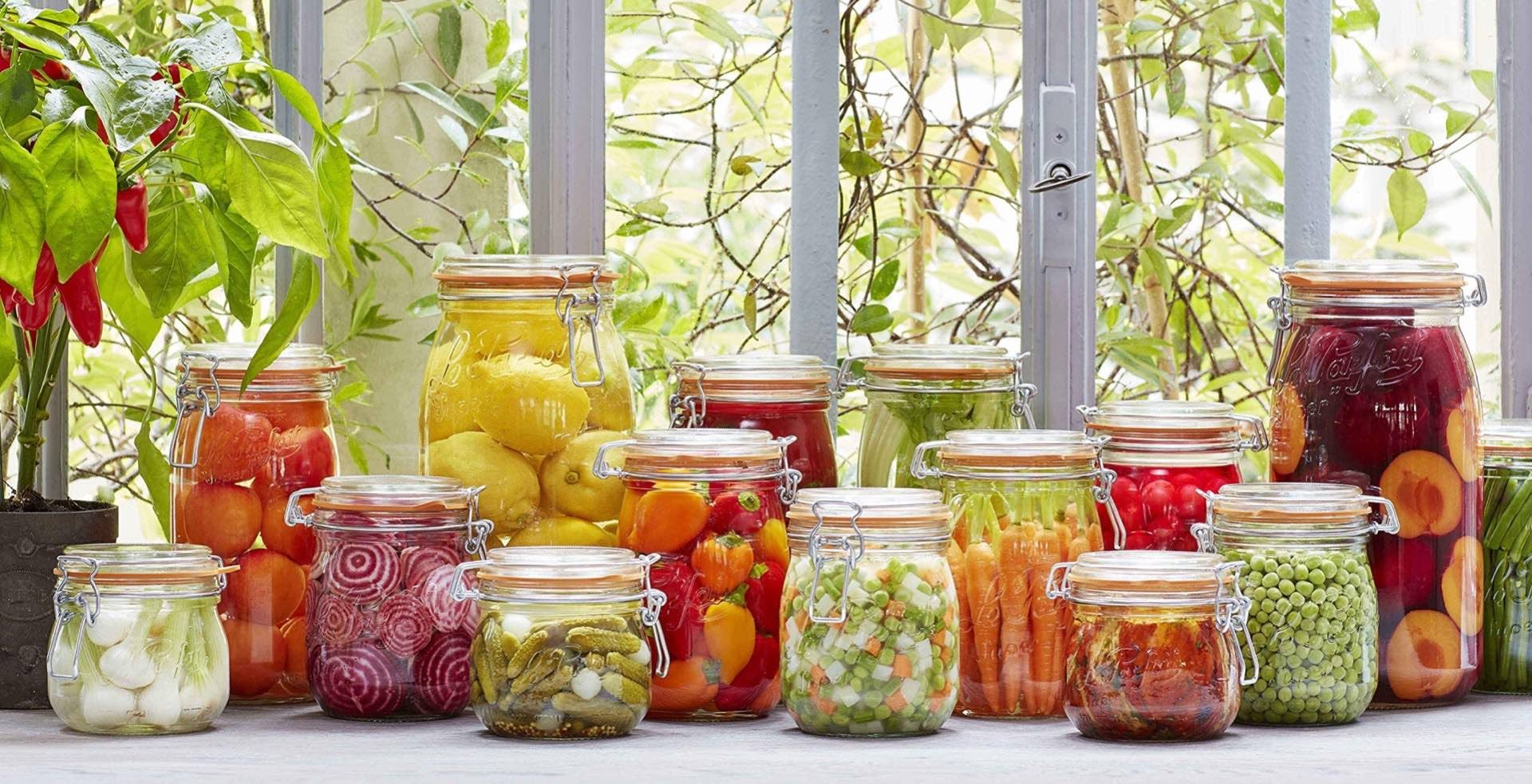 """Le Parfait """"Super"""" glass jars. (prices vary)"""