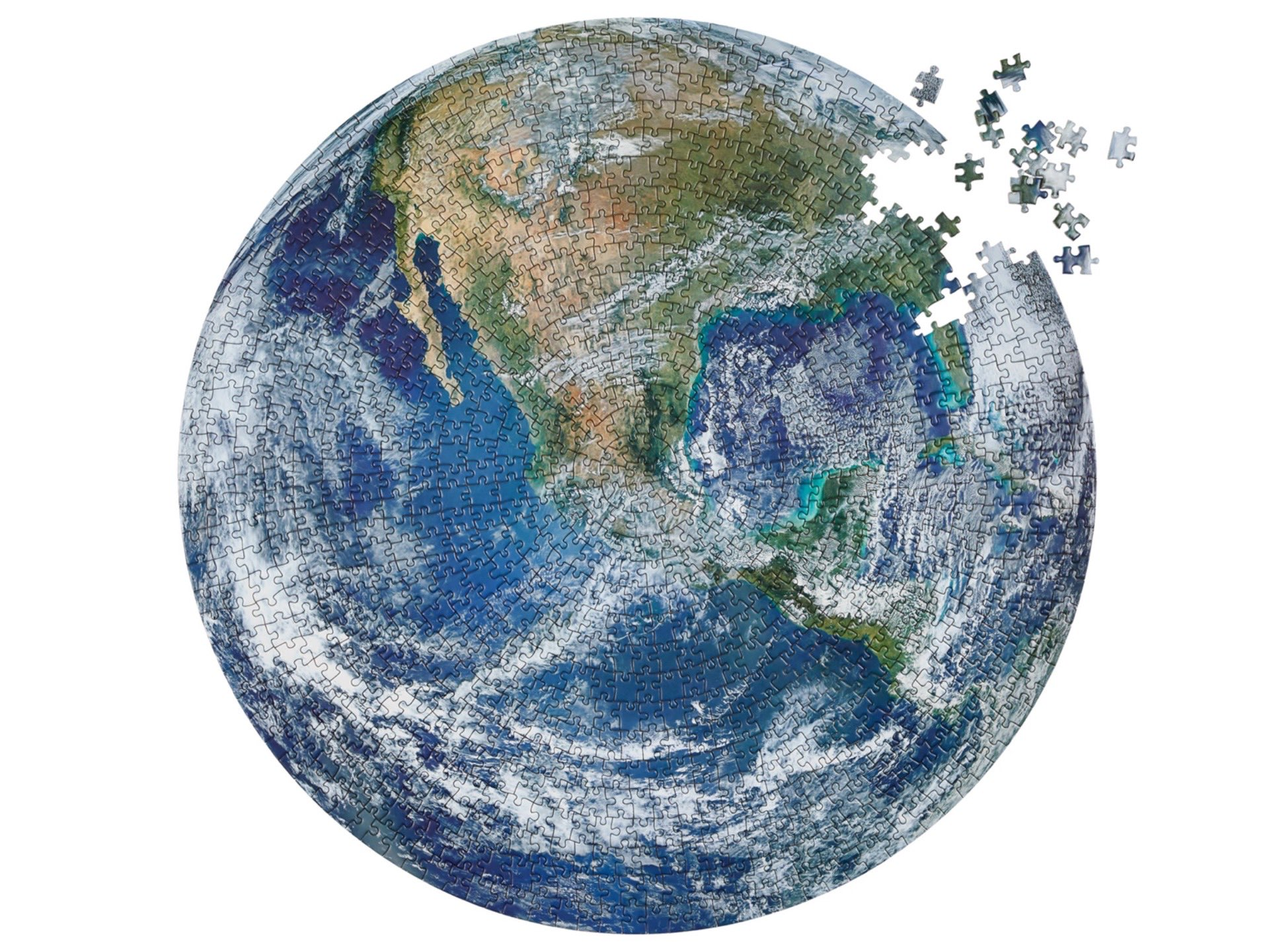The Earth jigsaw puzzle by Four Point Puzzles. ($25)