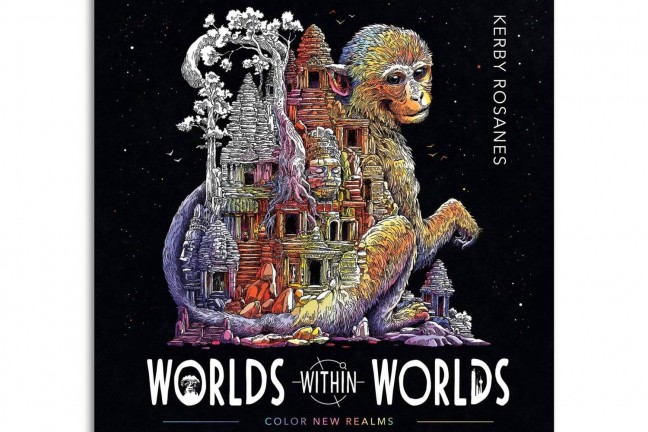 Worlds Within Worlds coloring book by Kerby Rosanes. ($12 paperback)