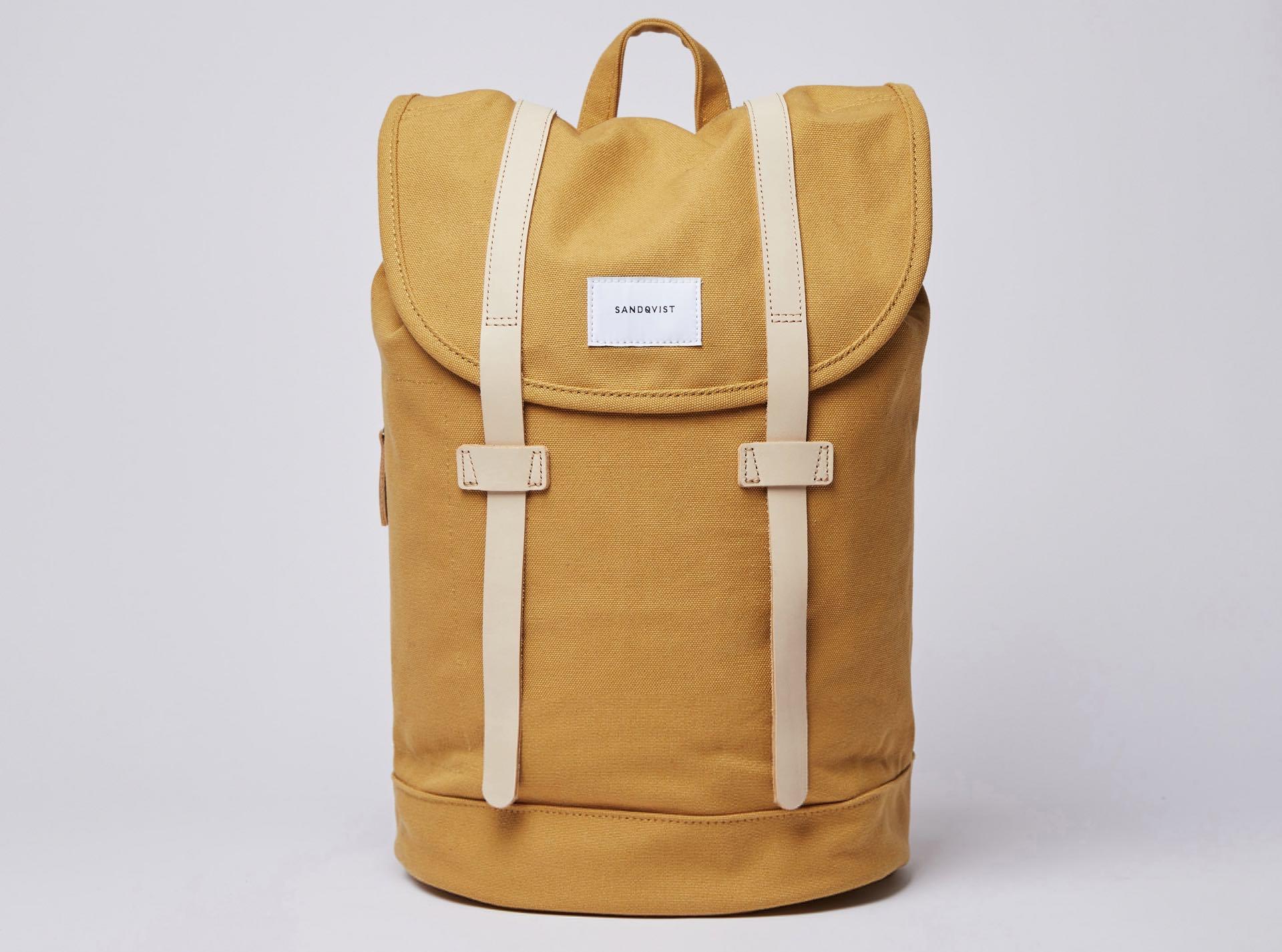 sandqvist-stig-backpack-in-honey-yellow
