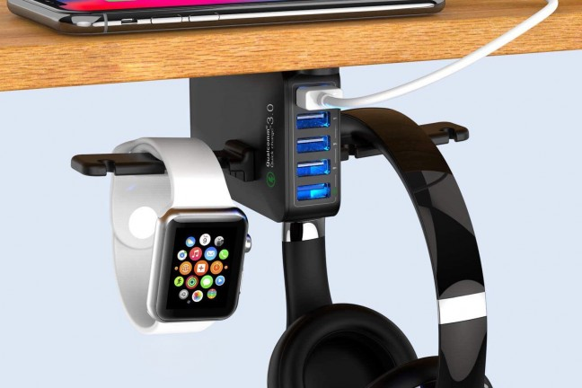 yostyle-under-desk-headphone-apple-watch-stand-with-usb-charger