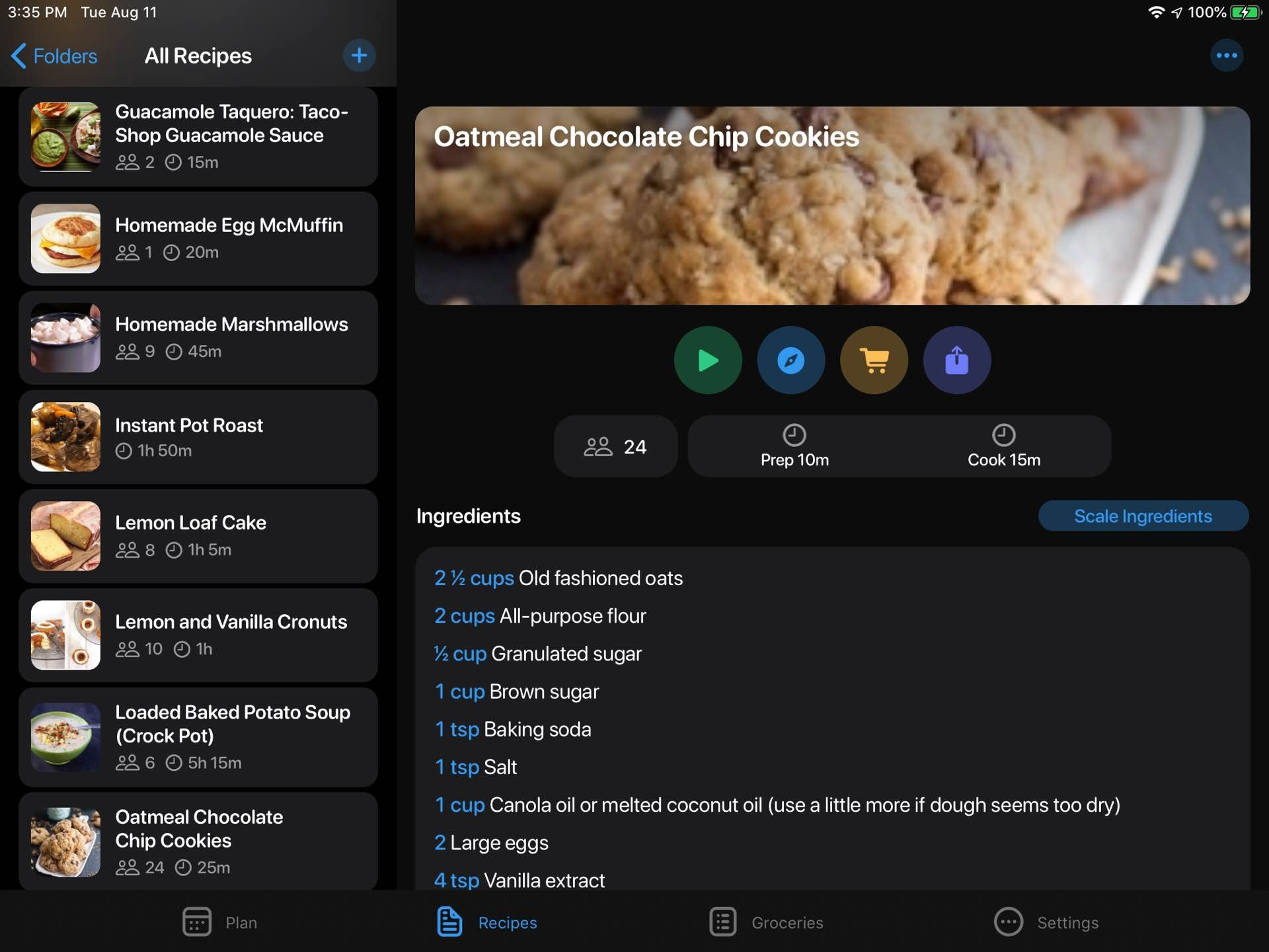 a crouton-recipe-and-meal-planner-app-recipe-ipad