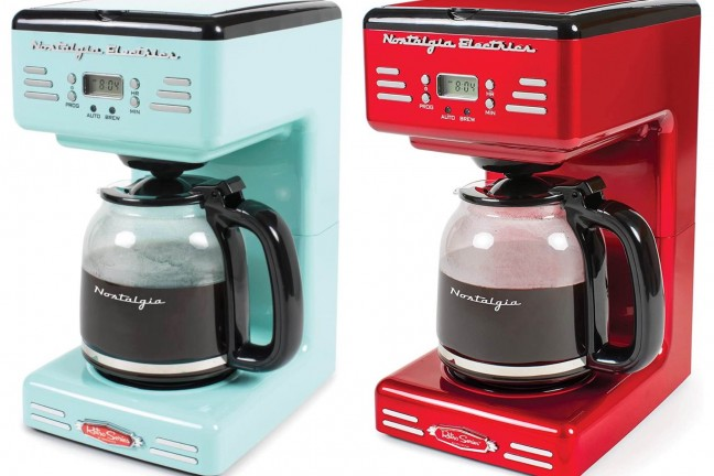 nostalgia-retro-12-cup-coffee-maker-aqua-and-red