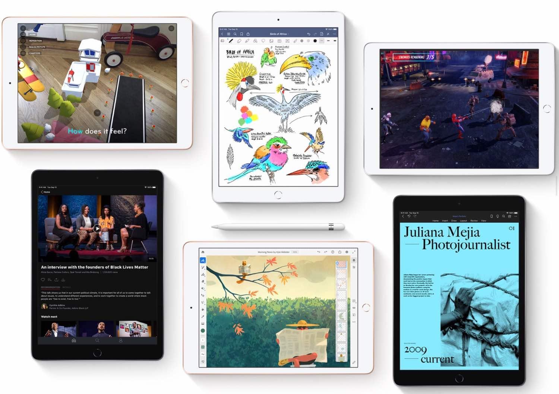 The 2020 iPad (8th gen). ($329–$559, depending on model)