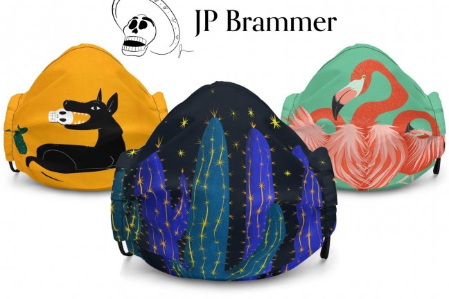 JP Brammer's artwork face masks. ($22 each)