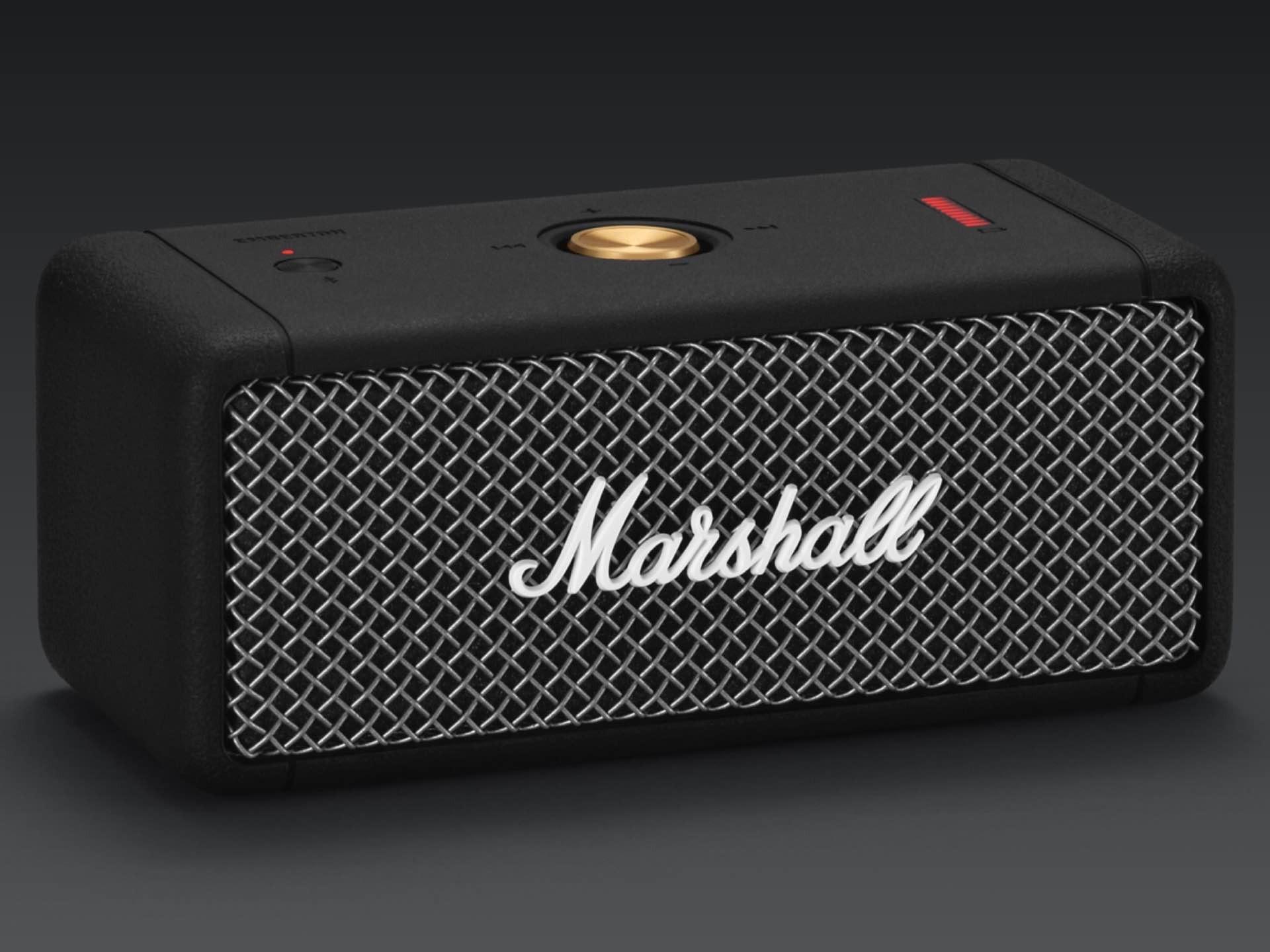 "Marshall's ""Emberton"" Bluetooth speaker. ($130)"