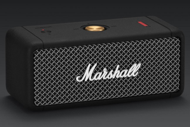 "Marshall's ""Emberton"" Bluetooth speaker. ($130)"