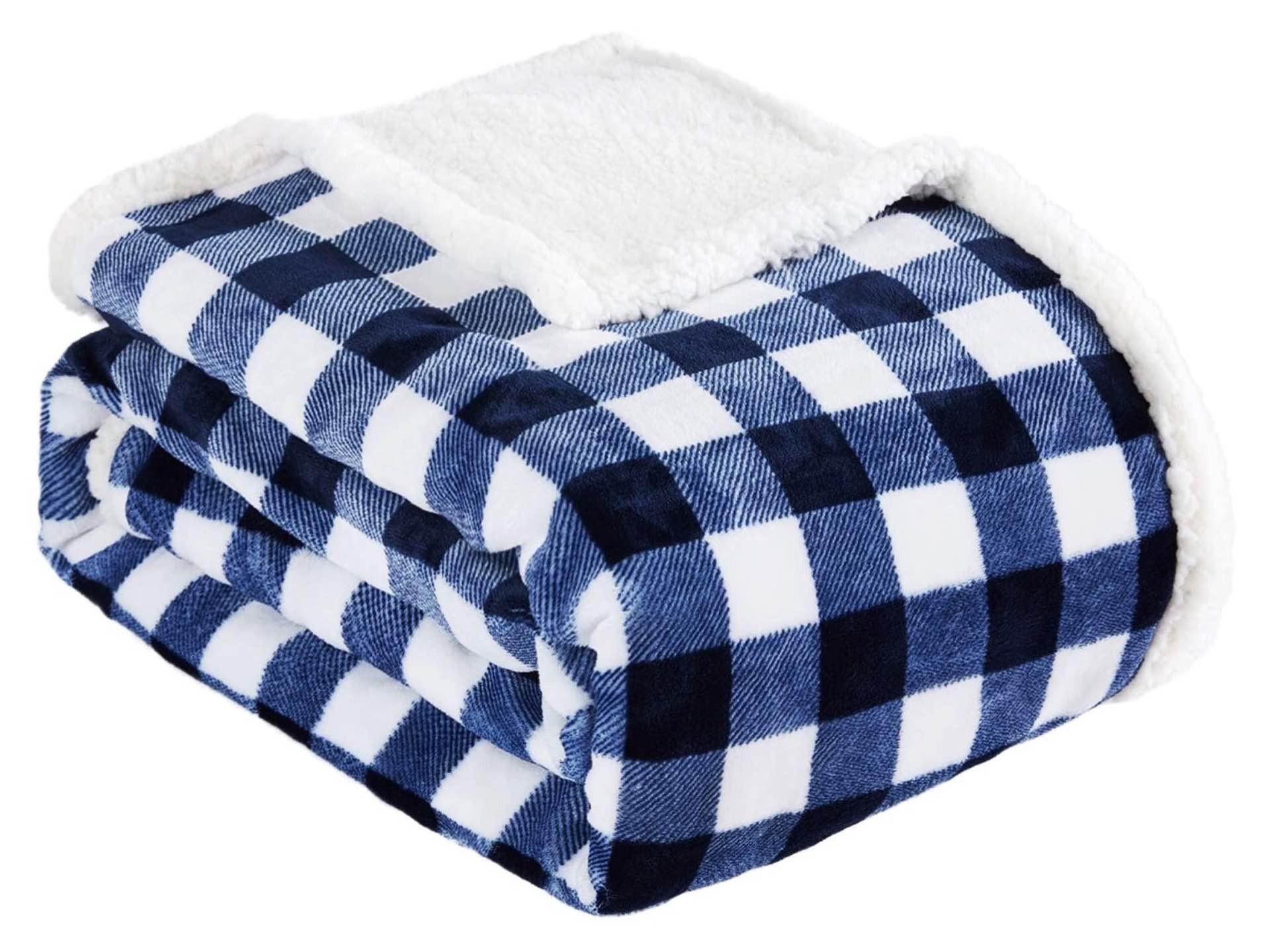Beautex sherpa fleece blanket. ($31)