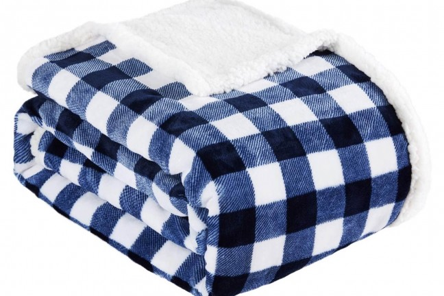 Beautex sherpa fleece blanket. ($31)