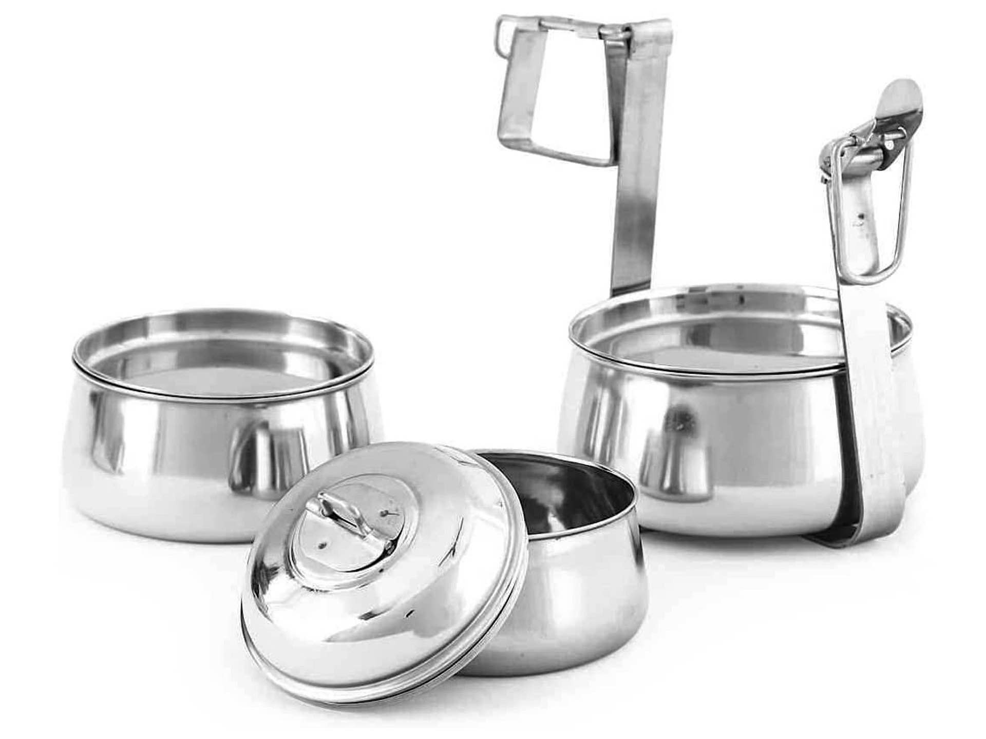king-international-stainless-steel-pyramid-tiffin-lunchbox-containers