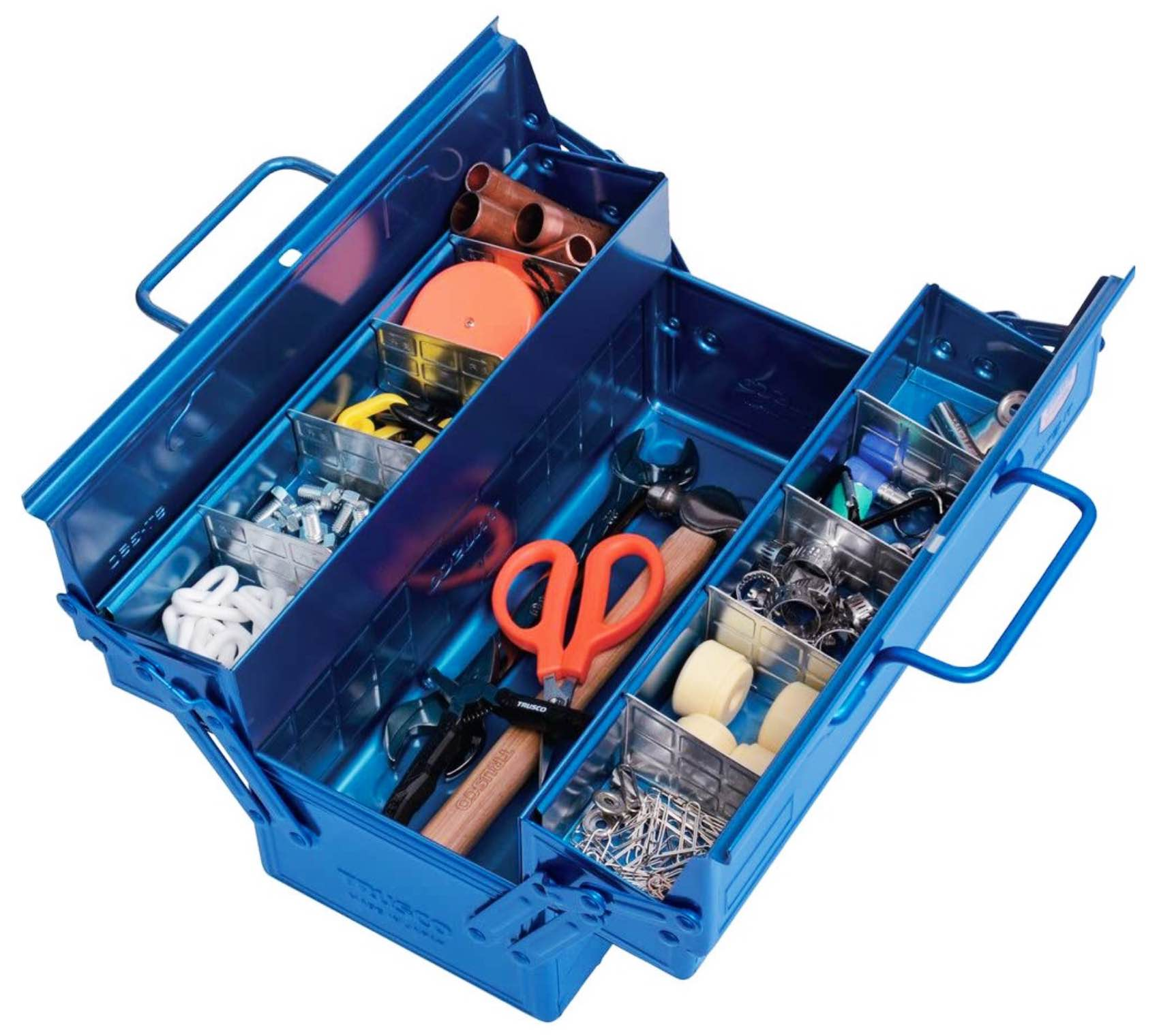 trusco-two-level-tool-box-open