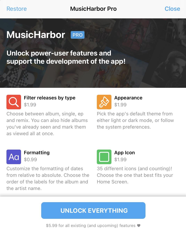 musicharbor-for-ios-and-mac-iap-unlocks