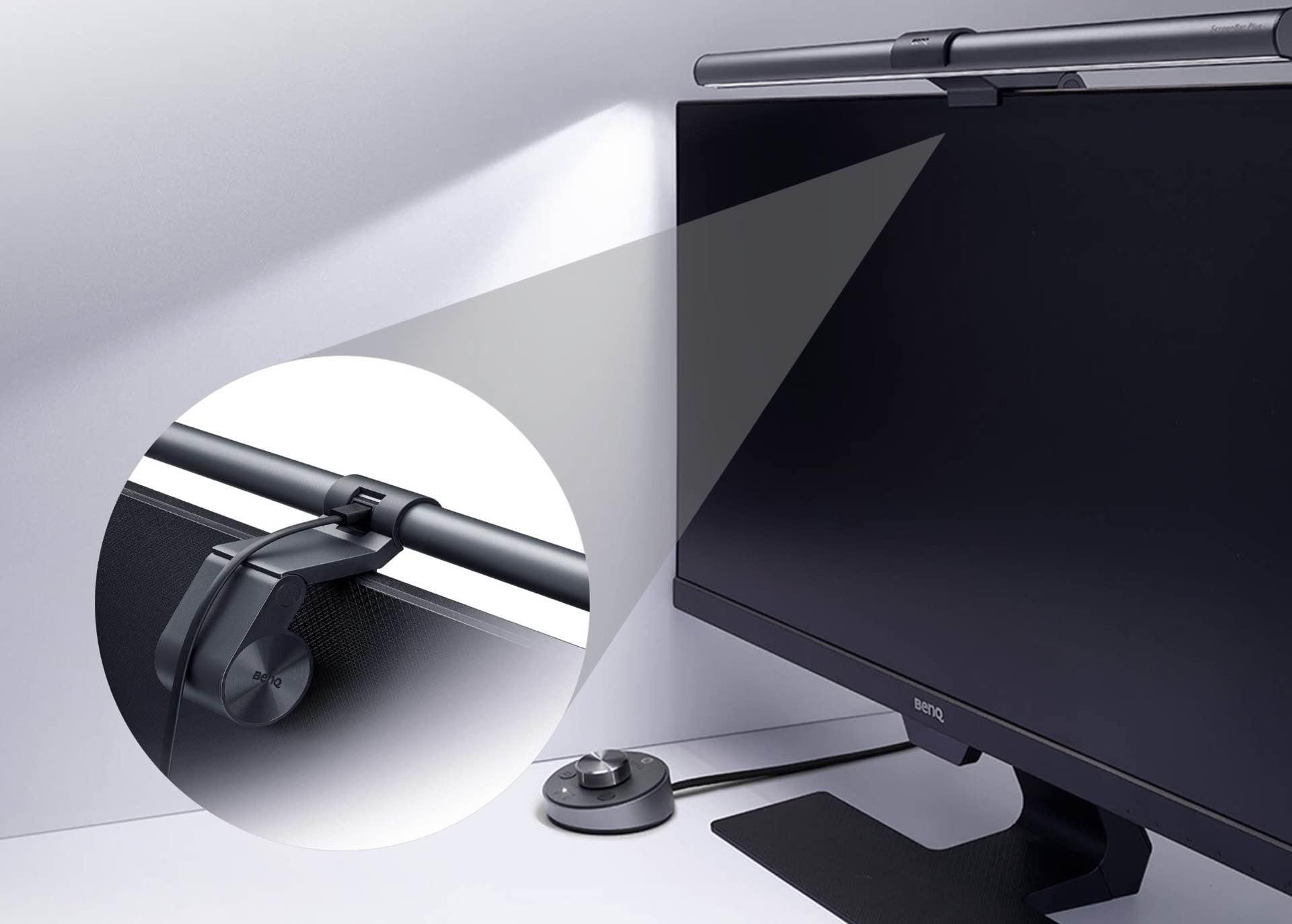 benq-screenbar-plus-monitor-lamp-with-desktop-control-dial-installation