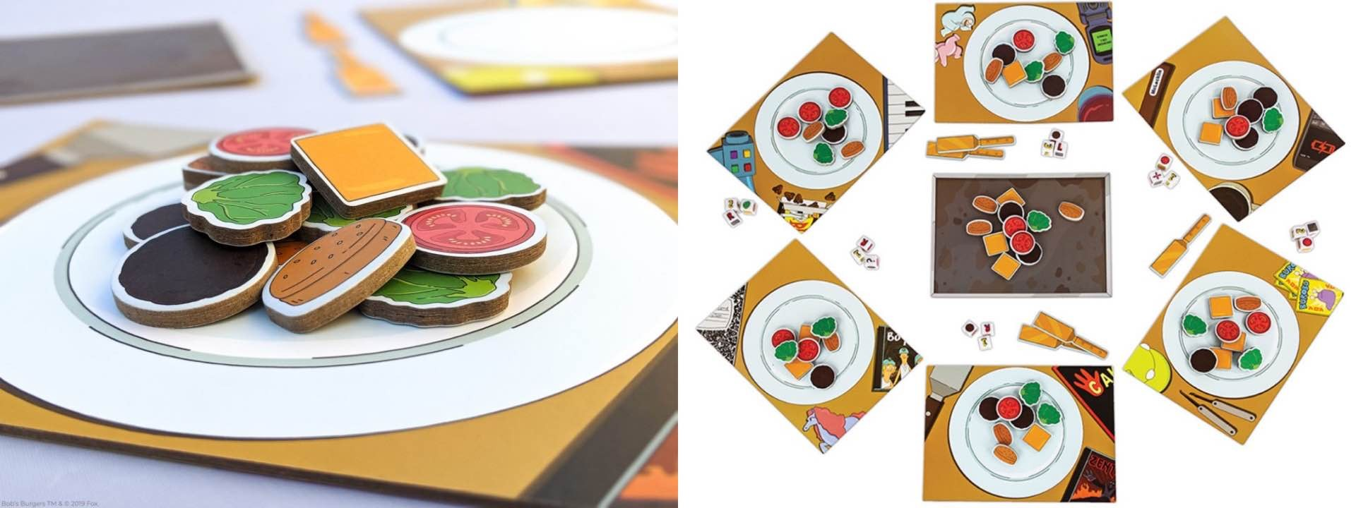 bobs-burgers-belcher-family-food-fight-board-game-components