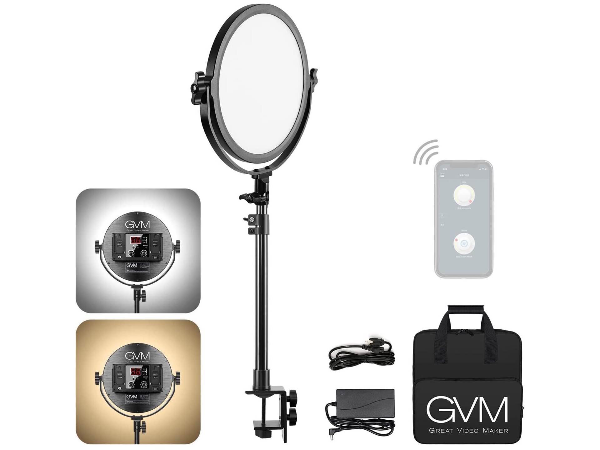 GVM Desk-Mounted 10.6″ LED Light Panel